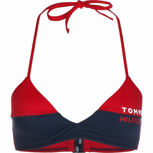 Bademode - Bikini Oberteil ' W ' › Tommy Hilfiger › weiß rot dunkelblau  - Onlineshop ABOUT YOU