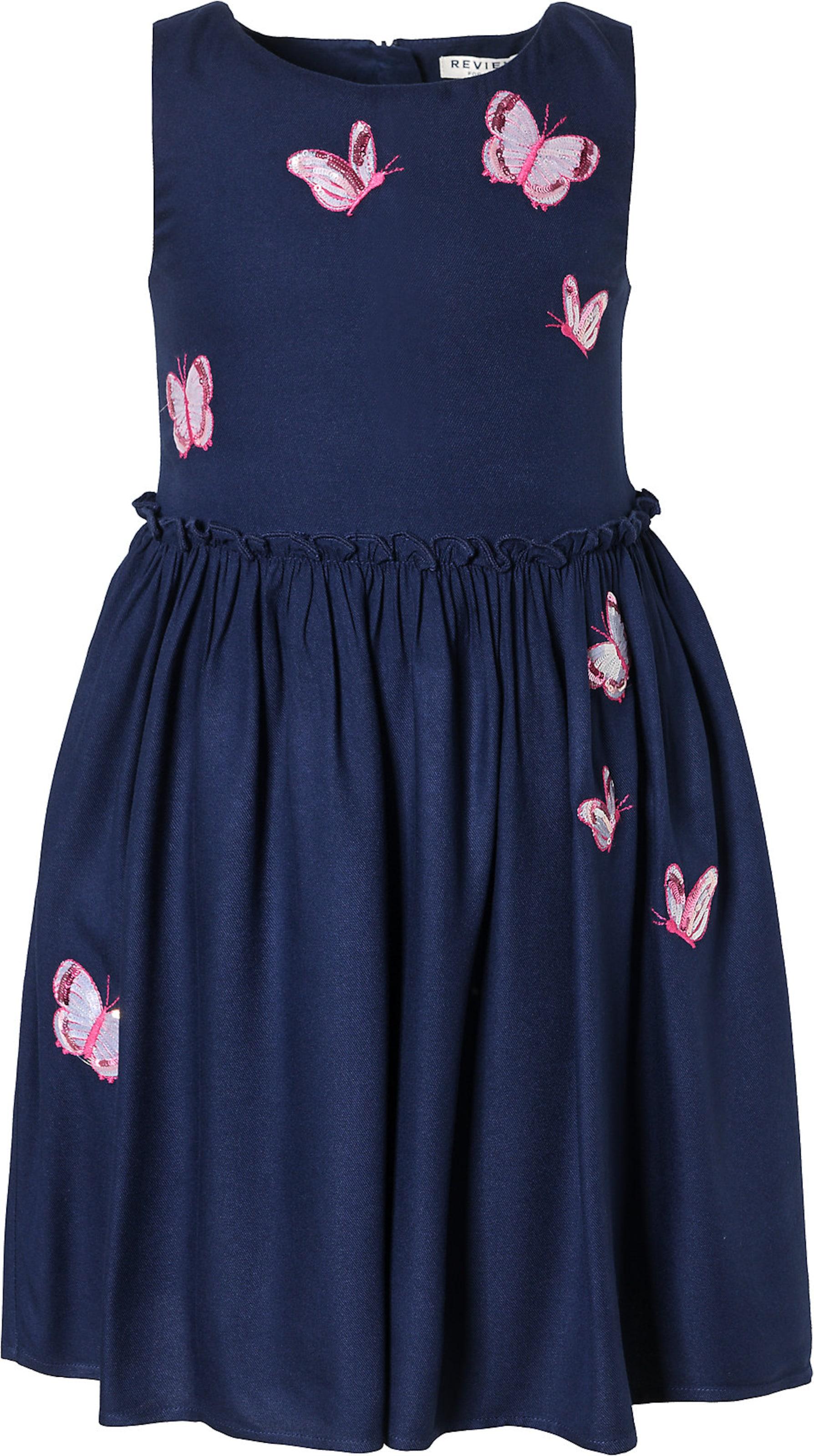 Kinder,  Mädchen,  Kinder REVIEW FOR KIDS Kinder Kleid mit Pailletten blau | 04062448411561
