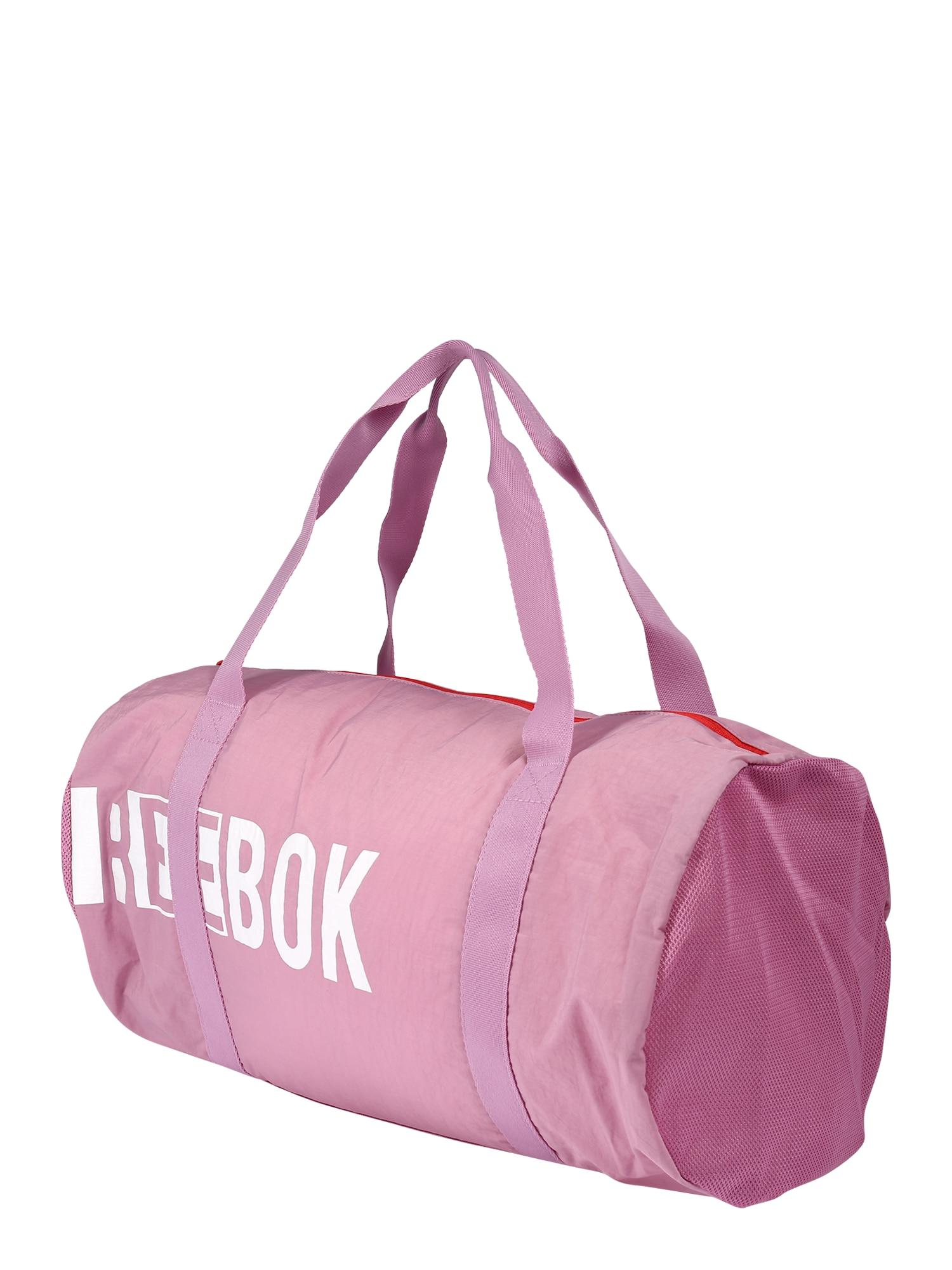 REEBOK Športová taška  biela / ružová