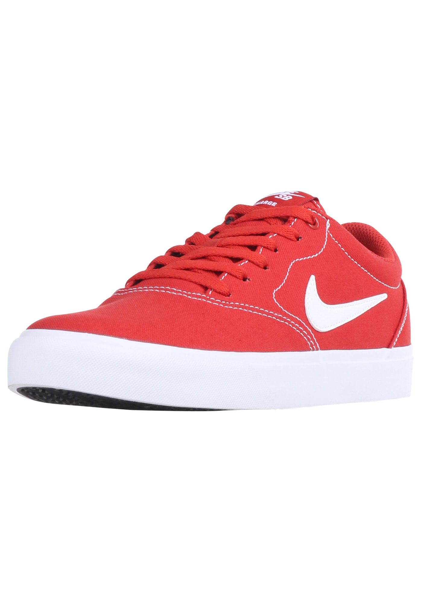 Nike SB Sportbačiai be auliuko 'Charge' raudona / balta