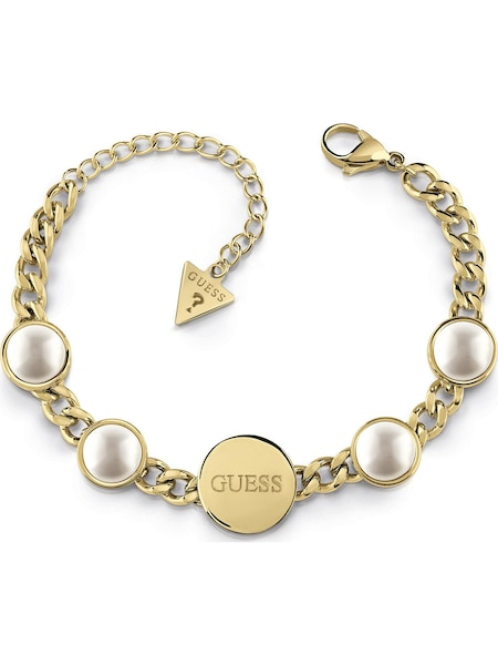 Armbaender für Frauen - GUESS Armband gold perlweiß  - Onlineshop ABOUT YOU