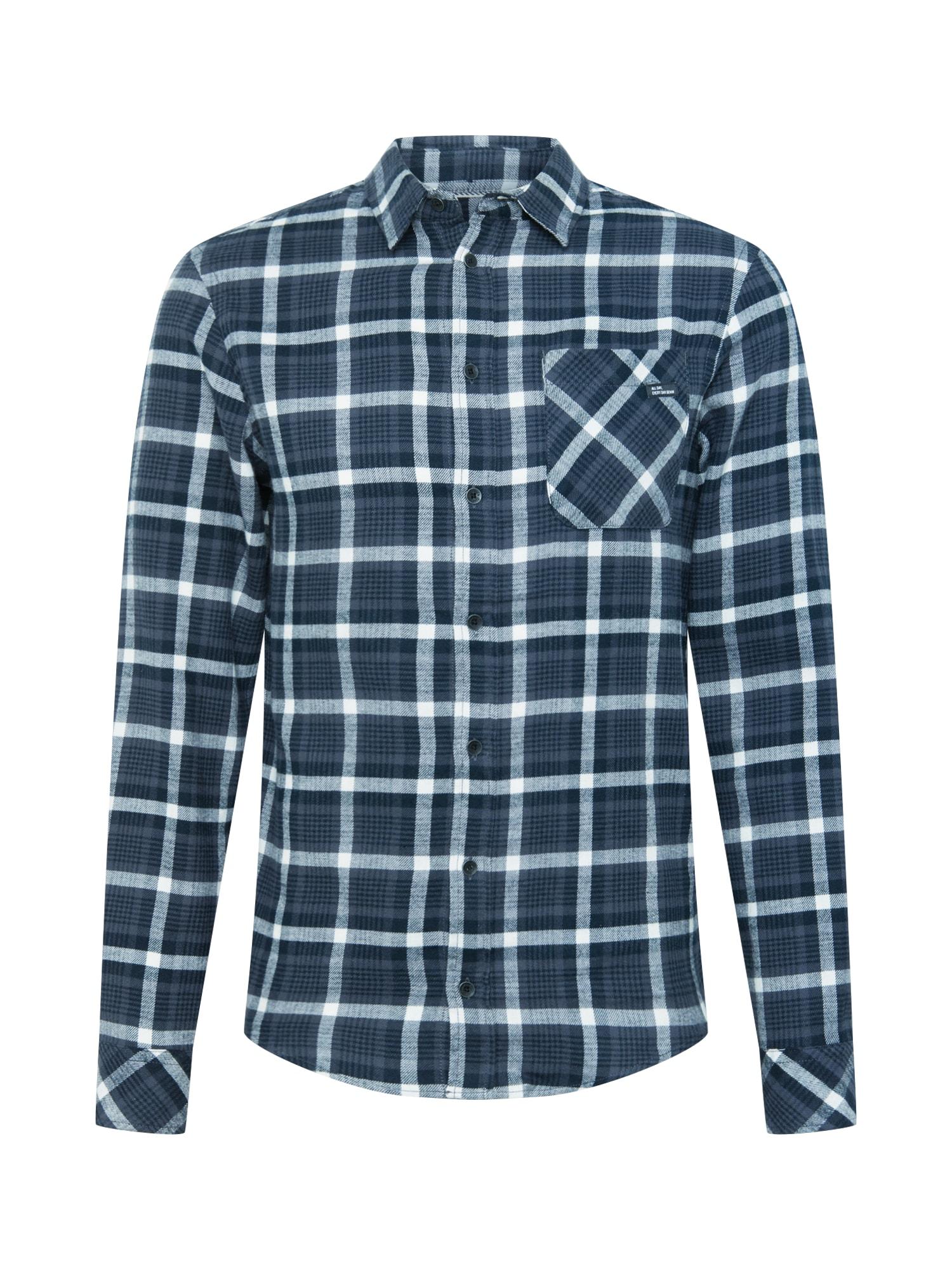 BLEND Marškiniai mėlyna / balta