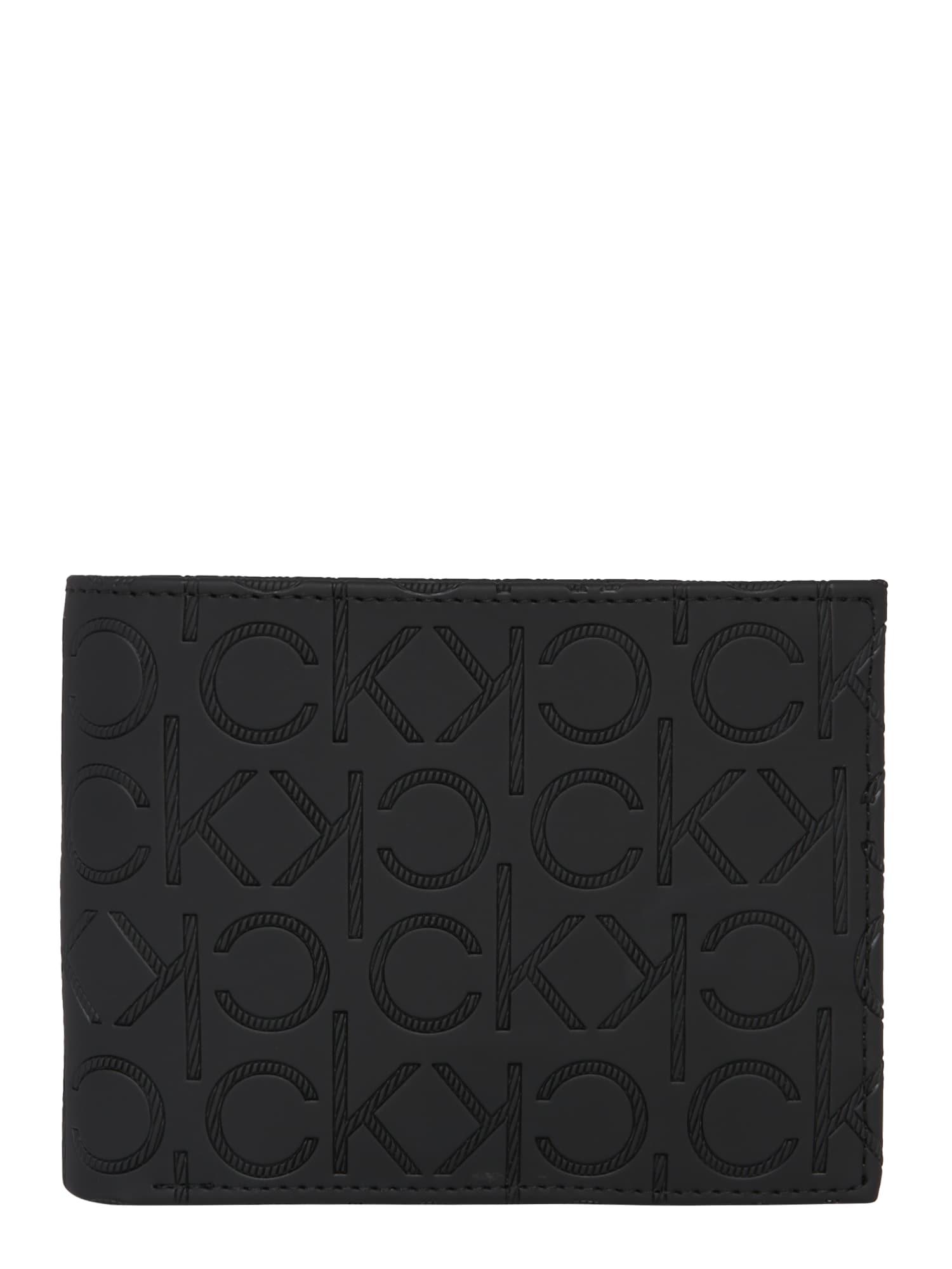 Calvin Klein Piniginė 'MONO BLEND 5CC W/ COIN' juoda
