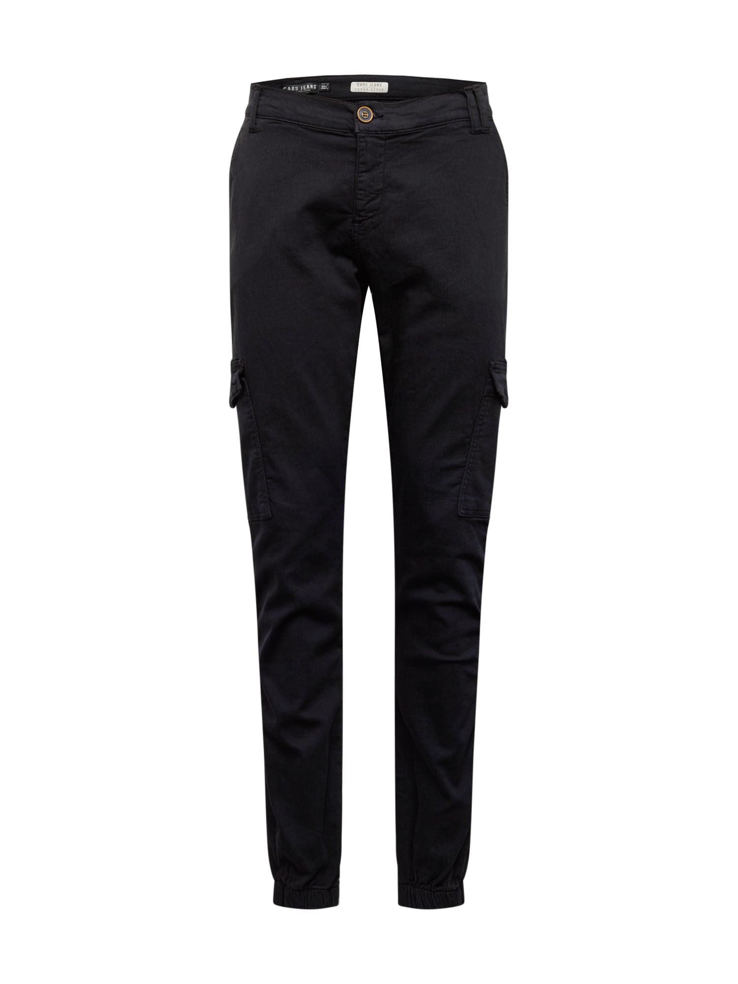 Cars Jeans Darbinio stiliaus kelnės 'JEREZ' juoda