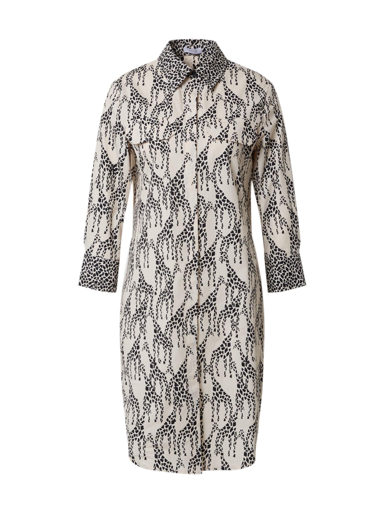 Riani Palaidinės tipo suknelė juoda / balta