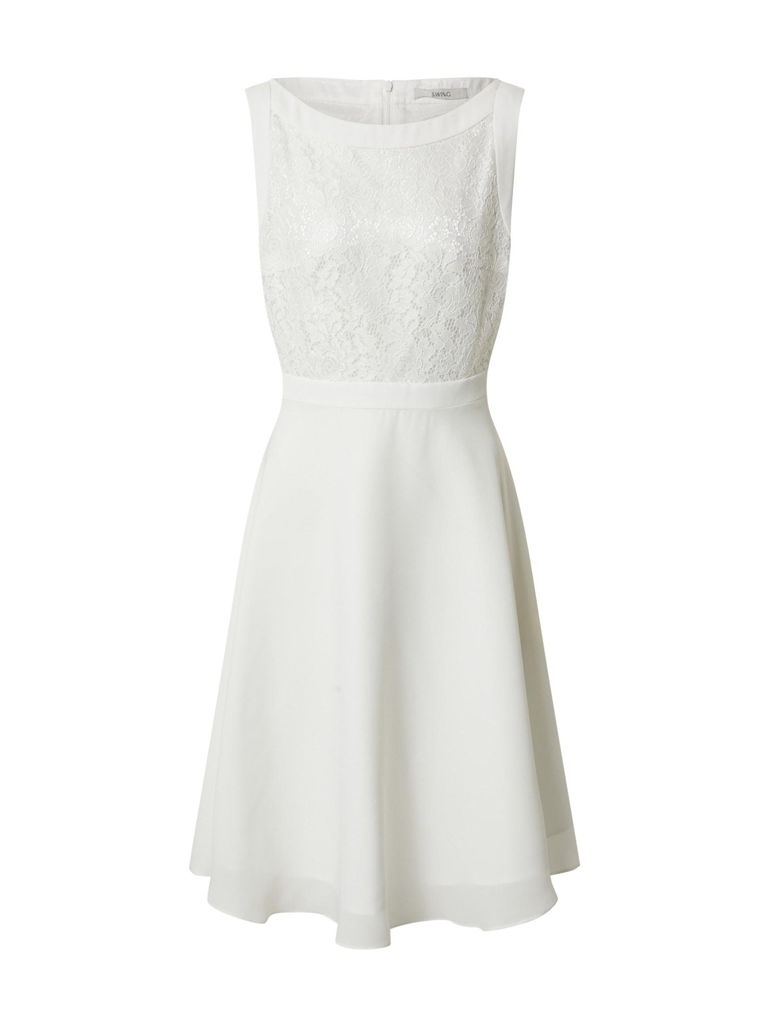 SWING Šaty  krémová / biela