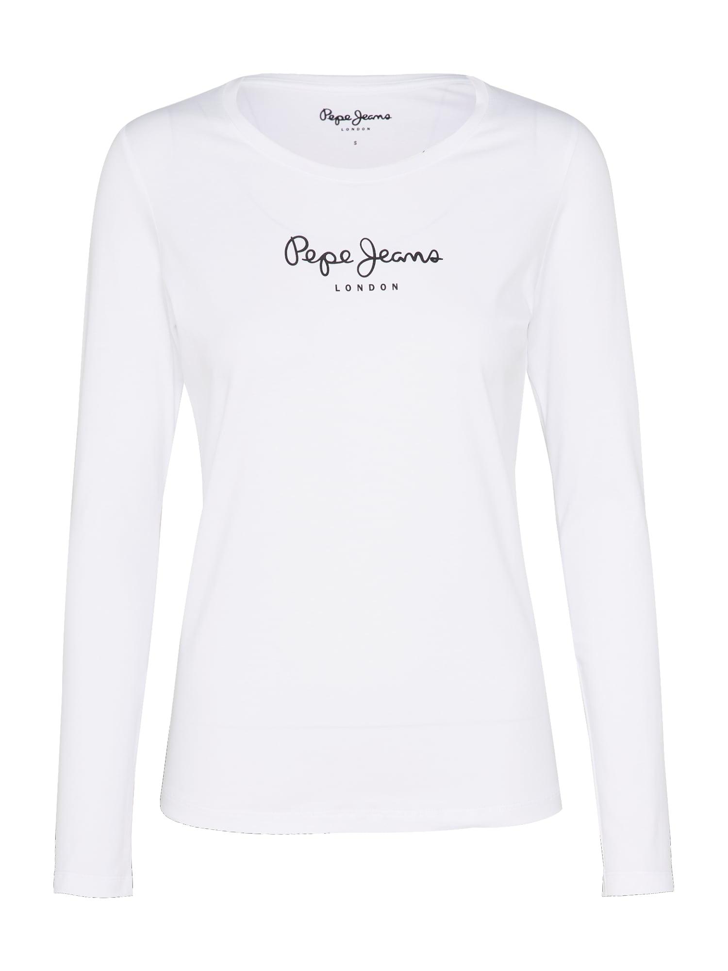 Pepe Jeans Tričko 'NEW VIRGINIA L/S'  bílá