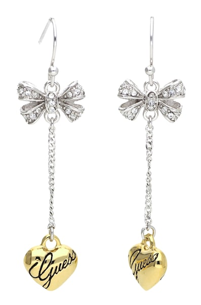 Ohrringe für Frauen - GUESS Ohrhänger 'UBE81137' gold silber transparent  - Onlineshop ABOUT YOU