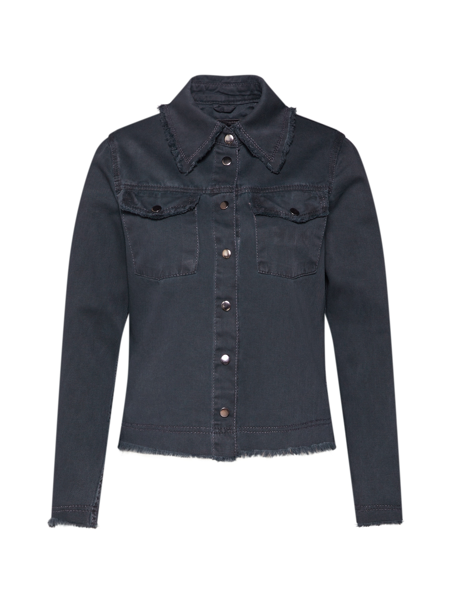 Přechodná bunda BEwiebke černá džínovina BE EDGY