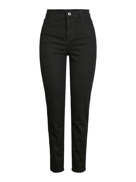 Hosen für Frauen - PIECES Jeans black denim  - Onlineshop ABOUT YOU