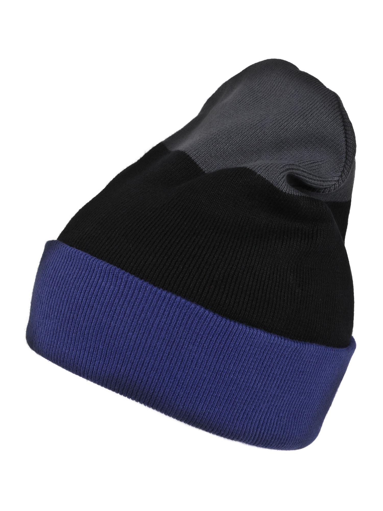 ThokkThokk Megzta kepurė juoda / mėlyna / pilka