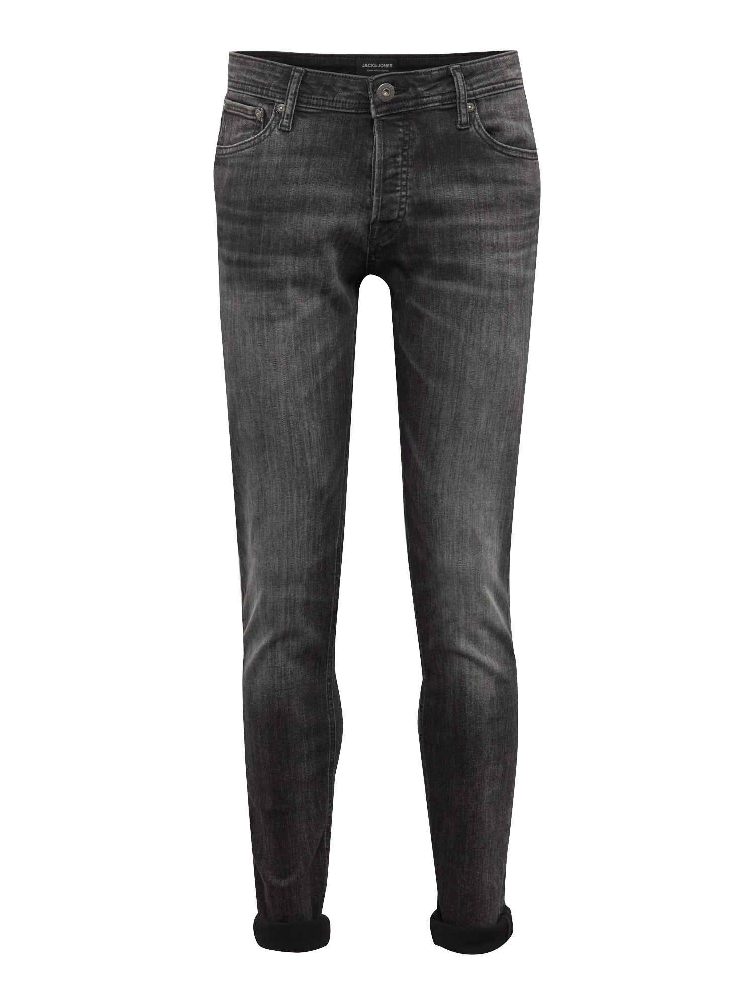 JACK & JONES Džinsai 'Glenn' juodo džinso spalva
