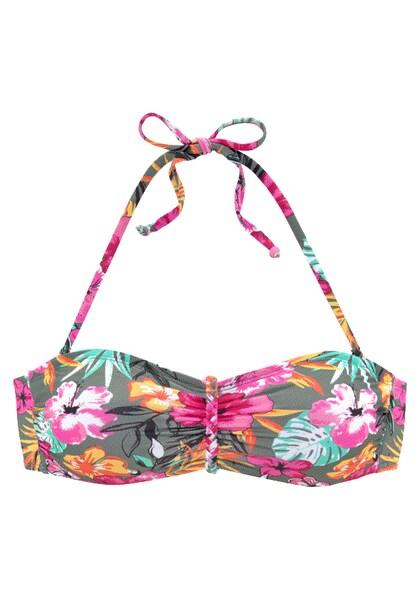 Bademode - Bandeau Bikini Top 'Pine' › Buffalo › mehrfarbig  - Onlineshop ABOUT YOU