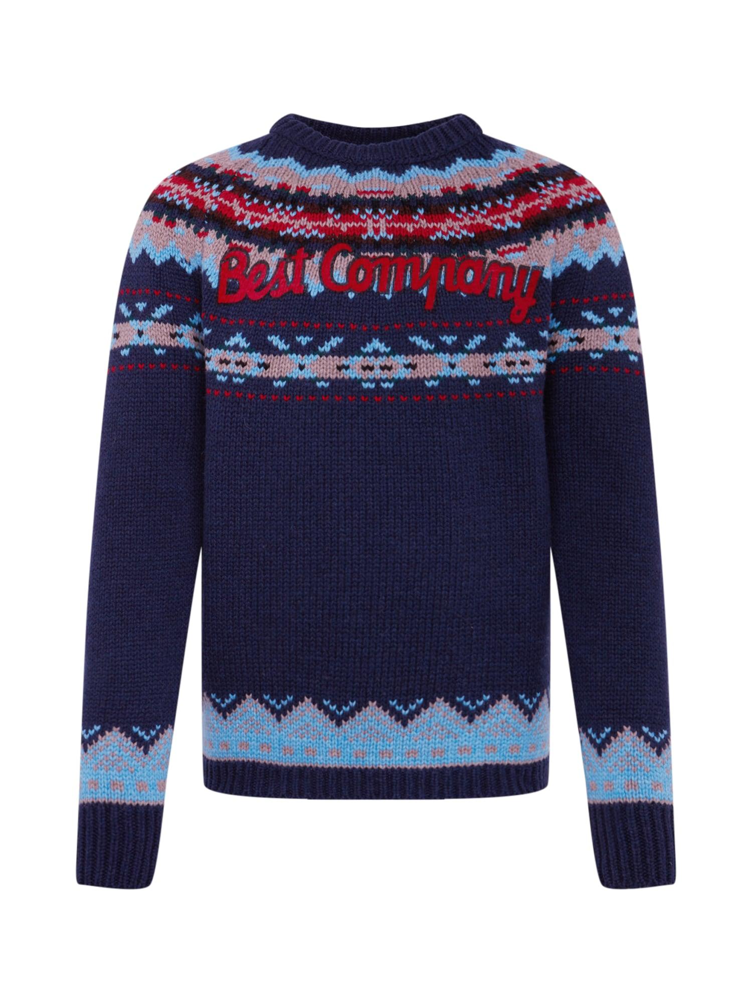Best Company Megztinis tamsiai mėlyna / mišrios spalvos