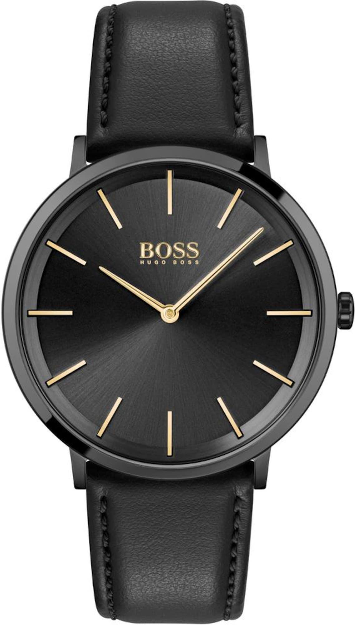BOSS Analoginis (įprasto dizaino) laikrodis 'SKYLINER' juoda / sidabrinė / auksas