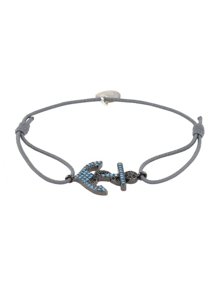 Armbaender für Frauen - Lua Accessories Damen Schmuck 'Anchor Armband' grau  - Onlineshop ABOUT YOU