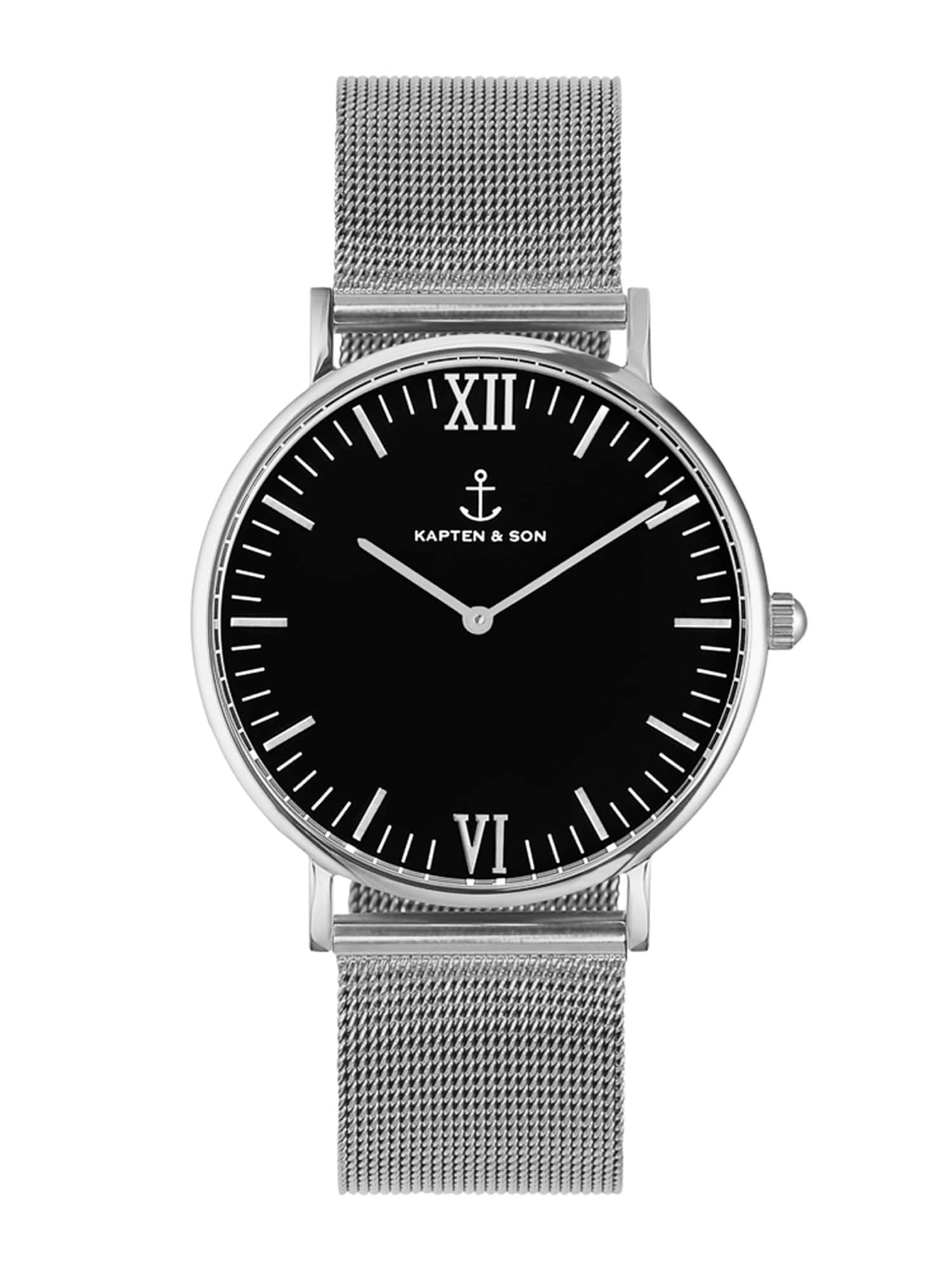 Analogové hodinky Campus černá stříbrná Kapten & Son