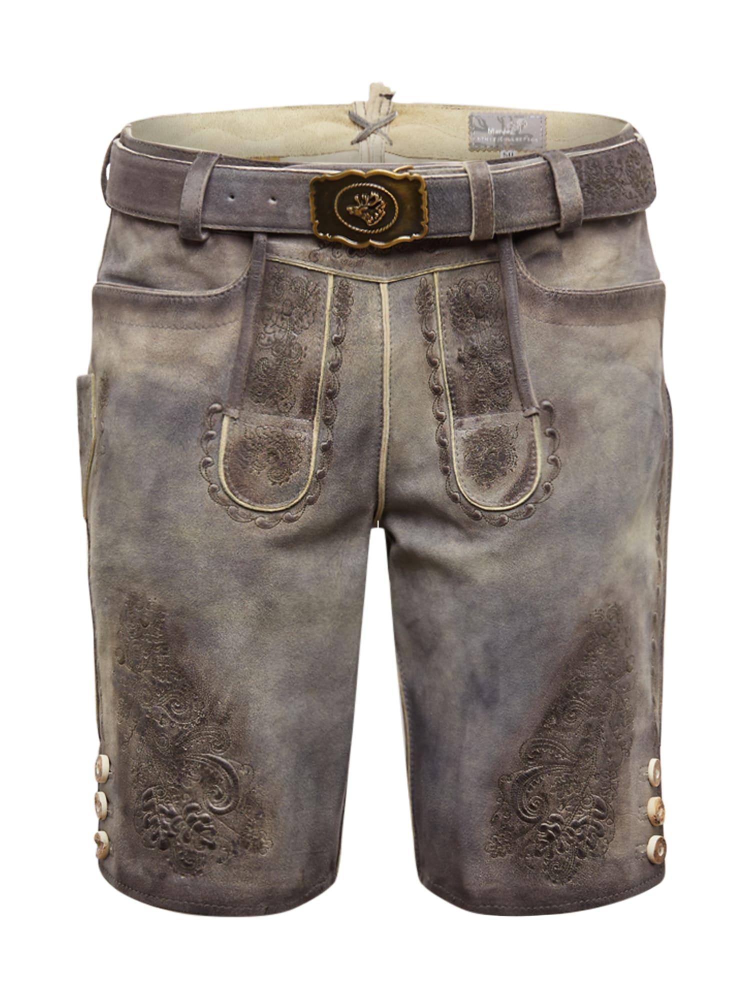 MARJO Kelnės su tradiciniais raštais '017 Arnest inkl. Gürtel' pilka