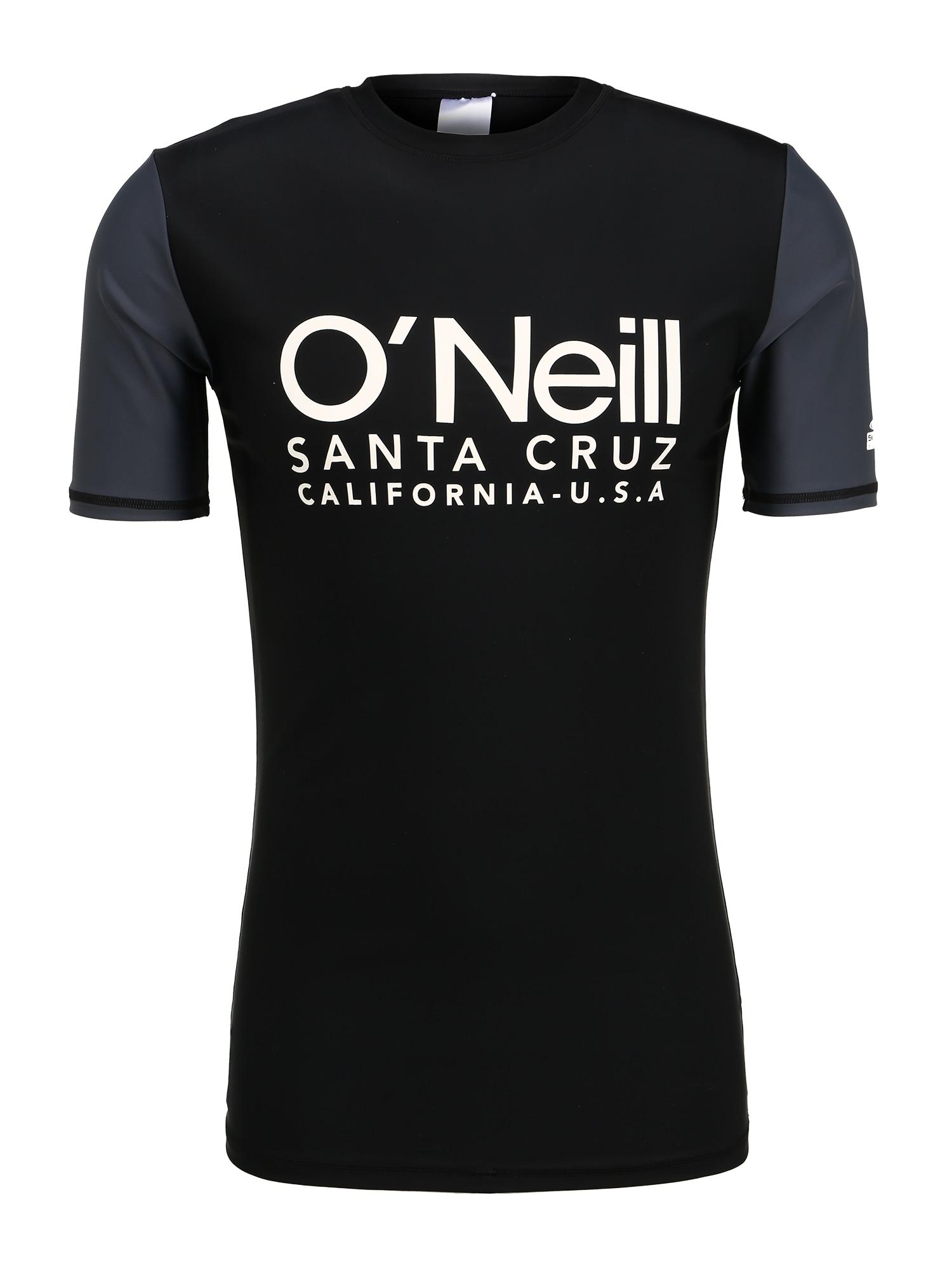 O'NEILL Sportiniai marškinėliai 'PM CALI S/SLV SKINS' juoda / balta