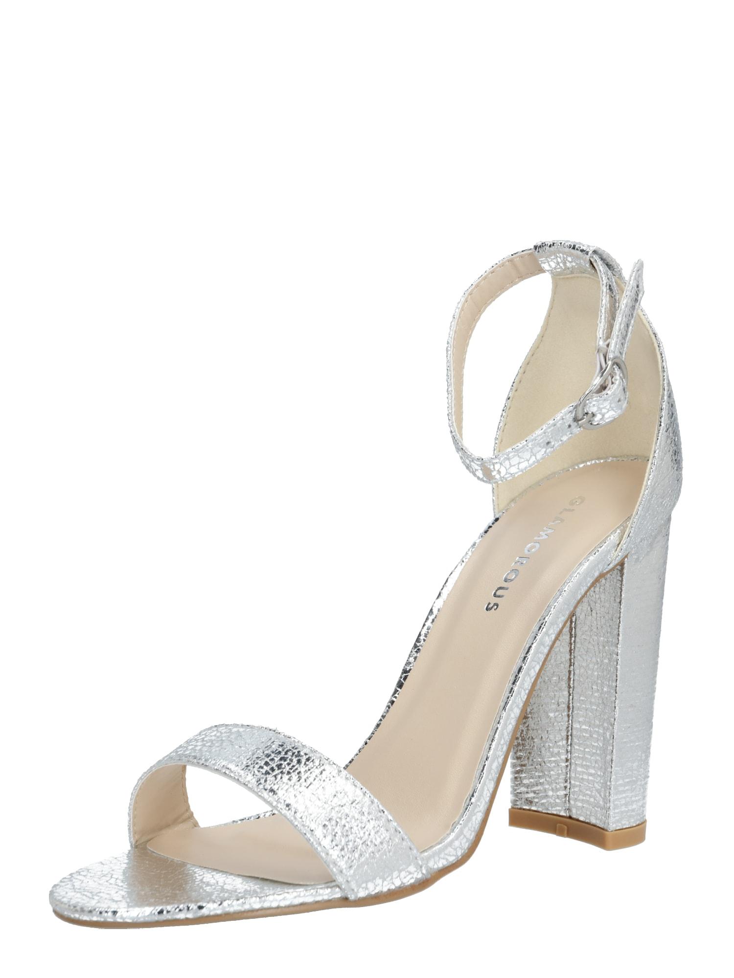 GLAMOROUS Sandále 'FW1898'  strieborná