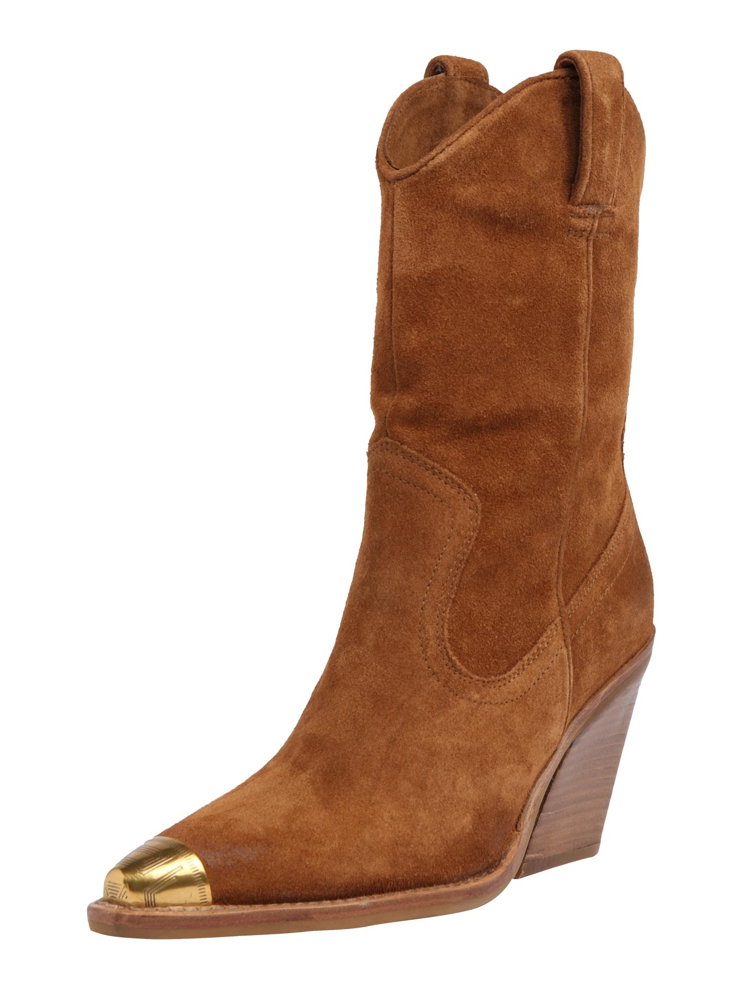 BRONX Kaubojiški batai 'New Kole' ruda (konjako)