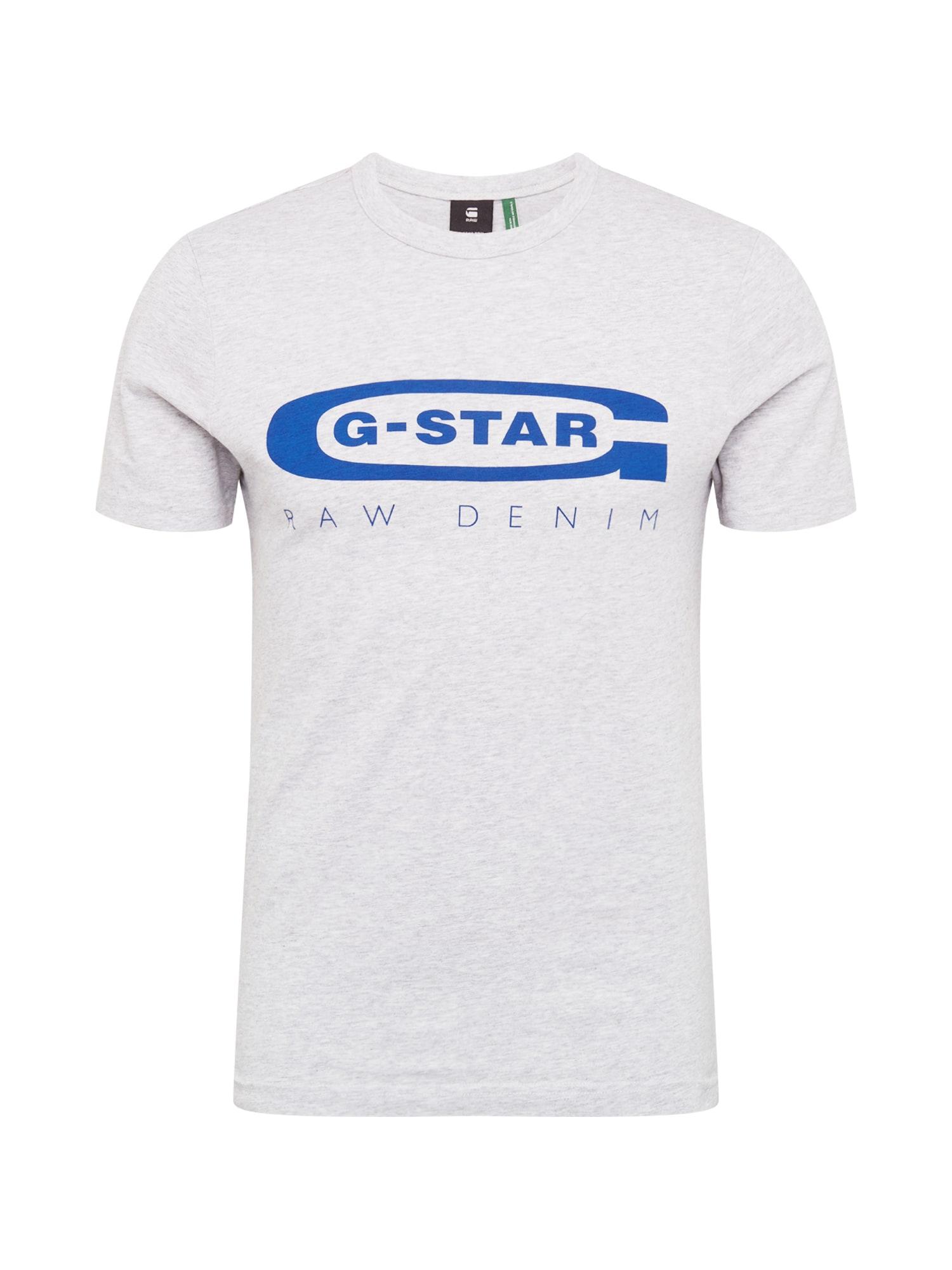 G-Star RAW Tričko 'Graphic 4'  modré / svetlosivá