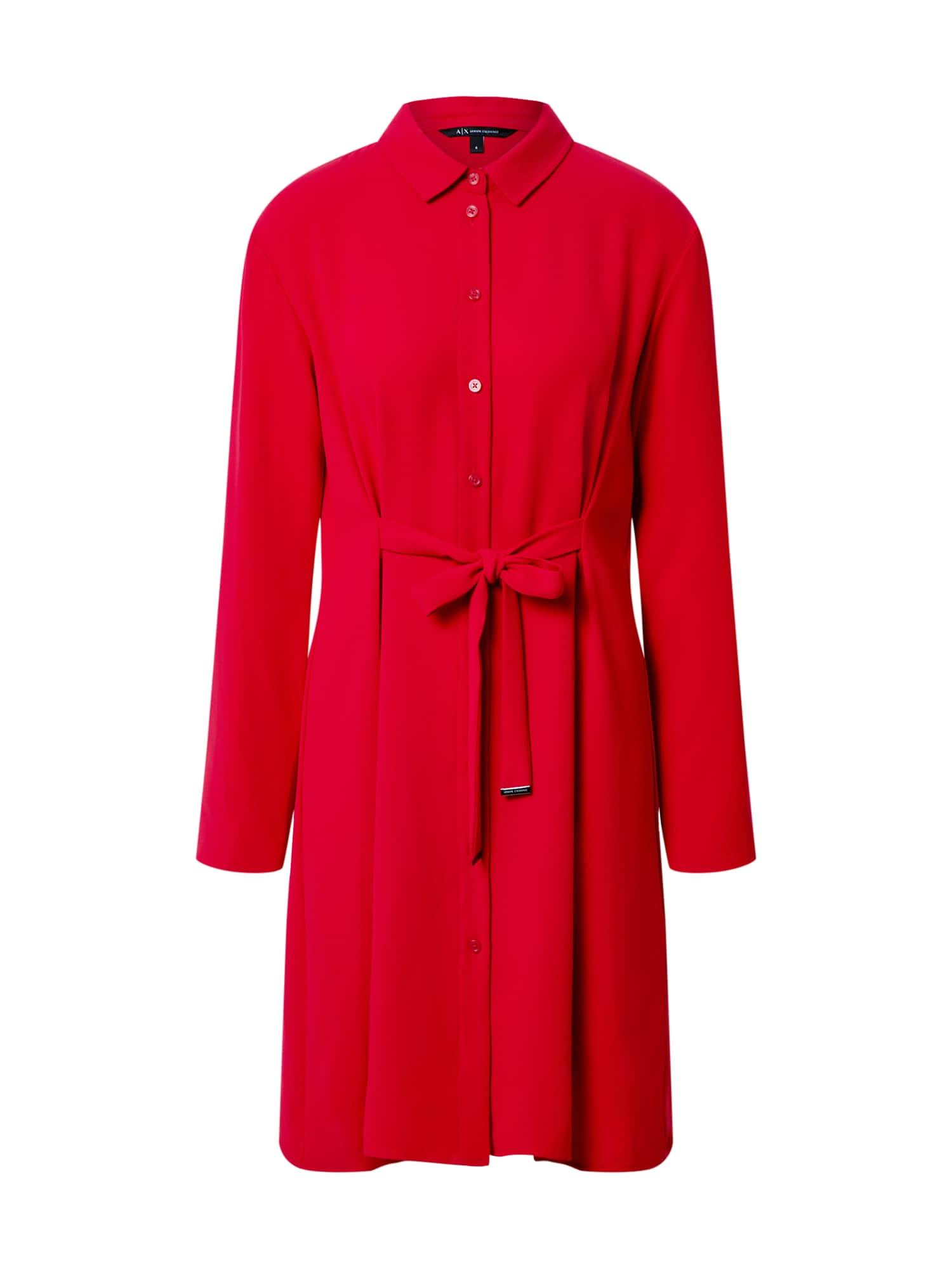 ARMANI EXCHANGE Palaidinės tipo suknelė '6HYA13' raudona