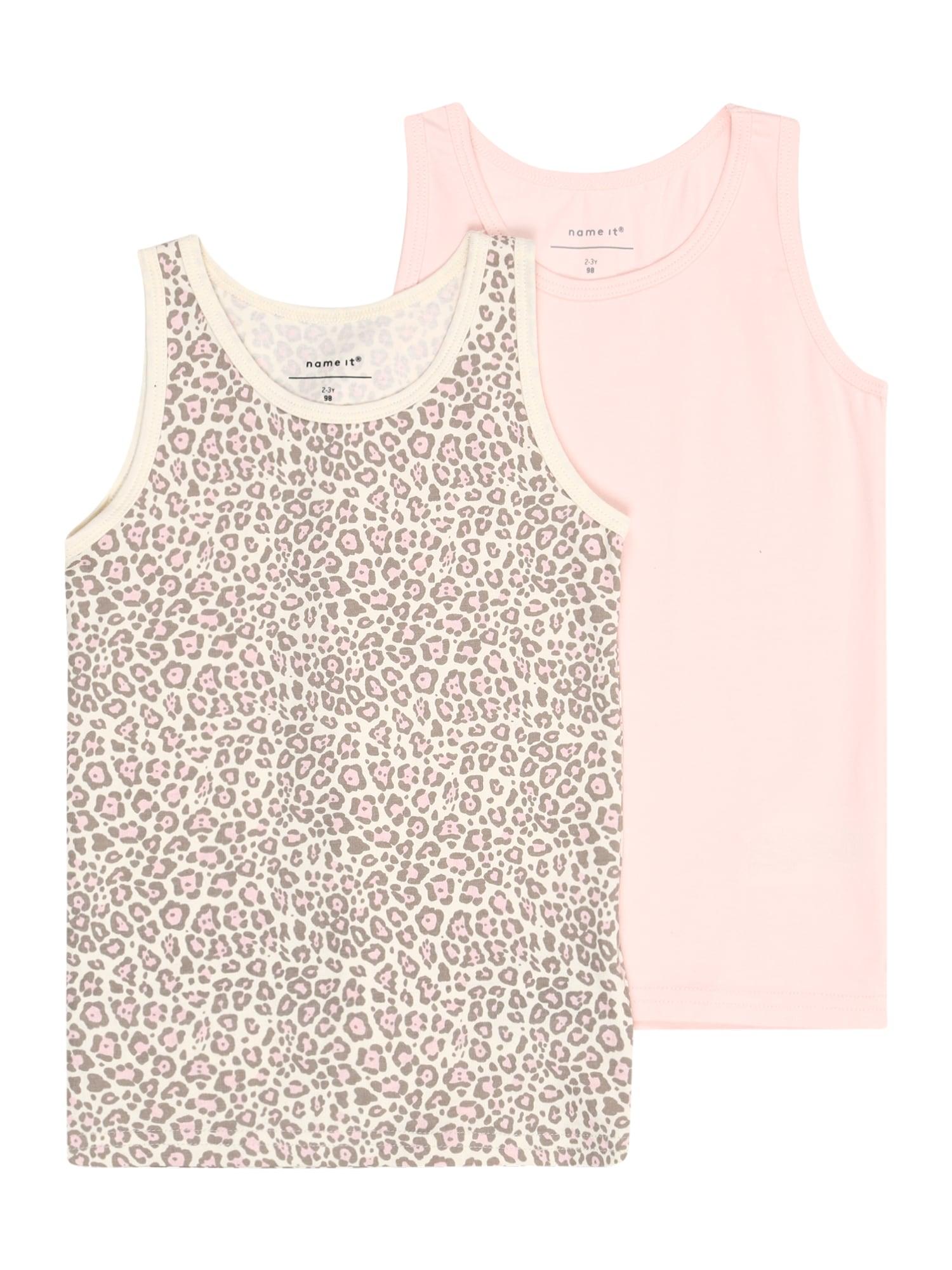NAME IT Apatiniai marškinėliai 'NMFTANK TOP' smėlio / rožių spalva