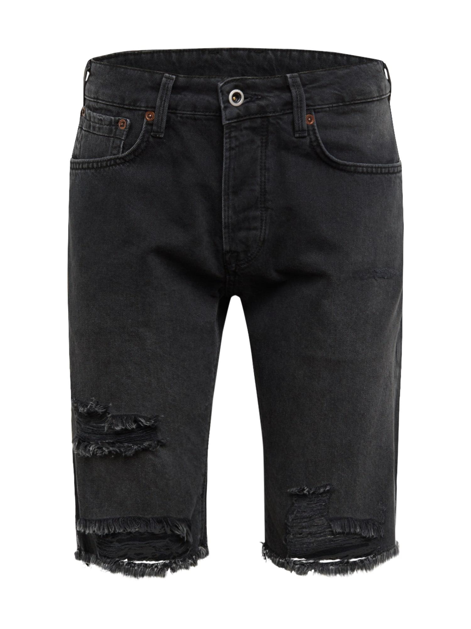 Pepe Jeans Džinsai 'STANLEY SHORT BLK' juodo džinso spalva
