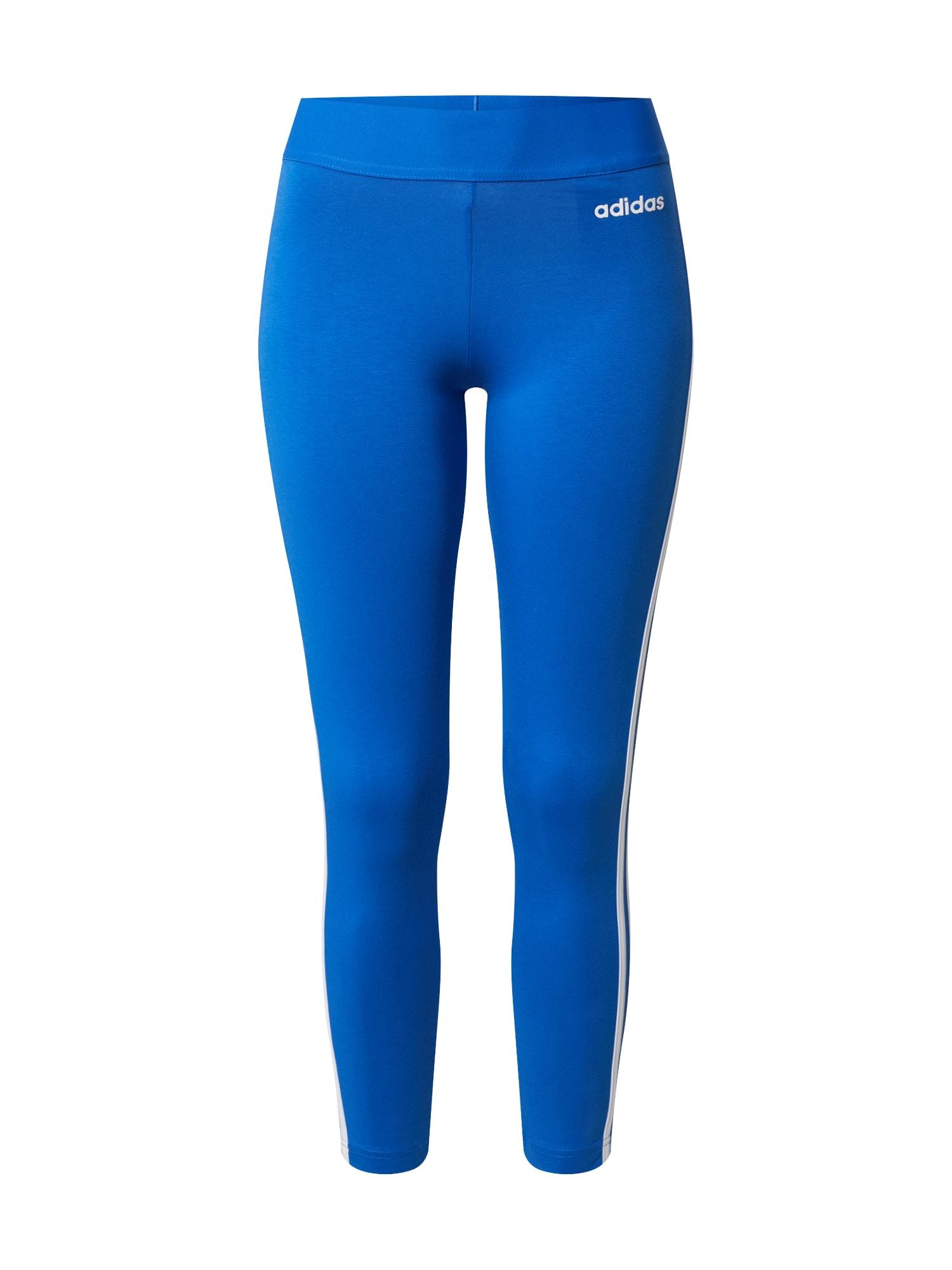 ADIDAS PERFORMANCE Sportovní kalhoty  královská modrá / bílá