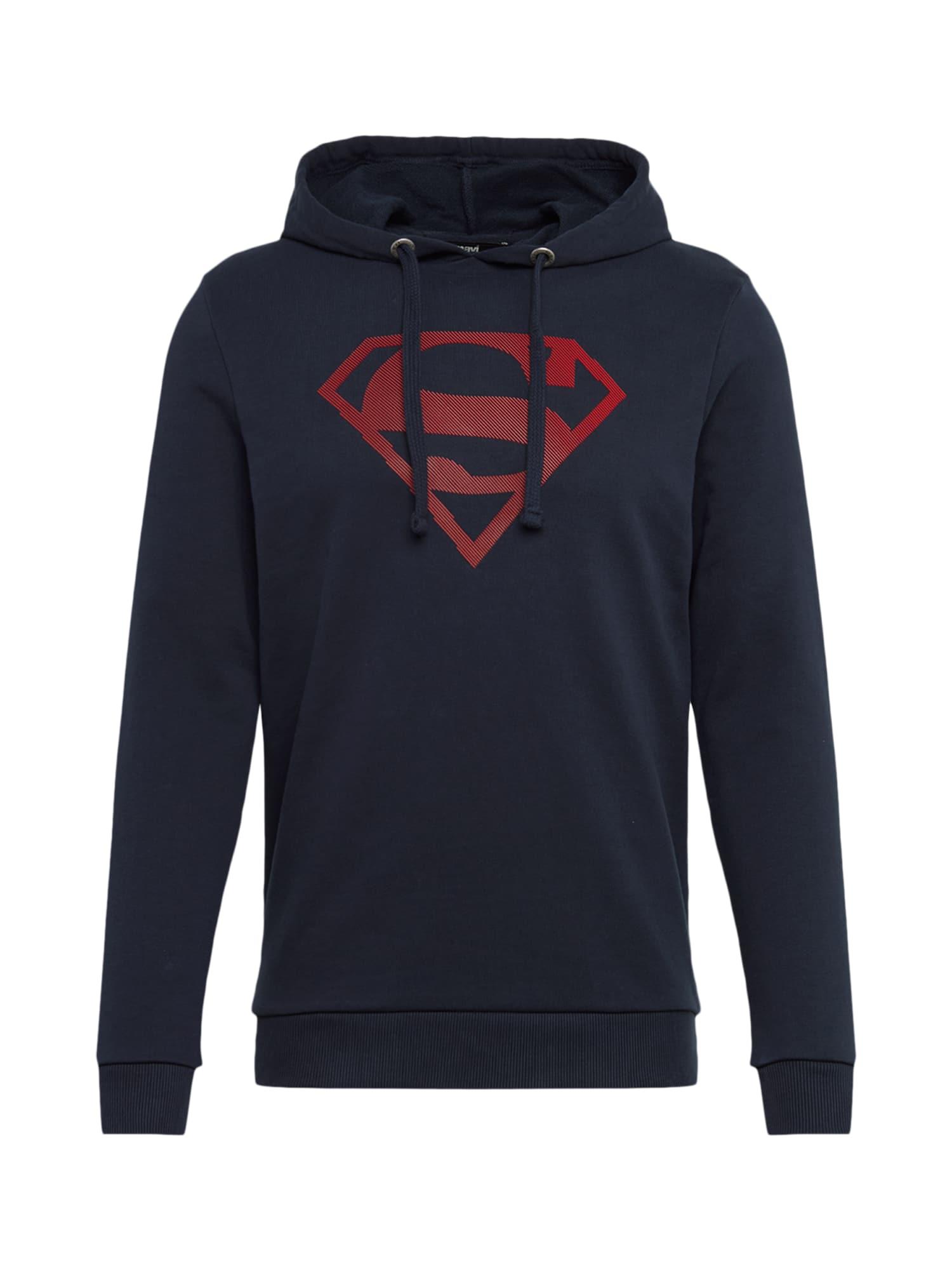 Mikina Superman noční modrá červená Mavi