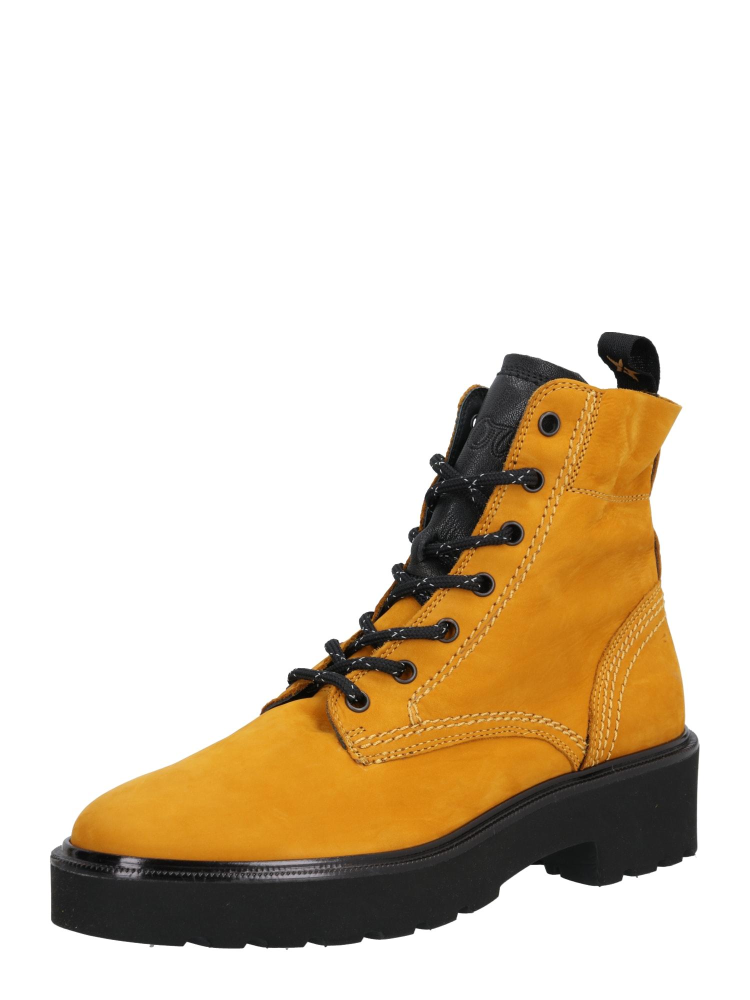 Paul Green Suvarstomieji kulkšnis dengiantys batai medaus spalva / juoda