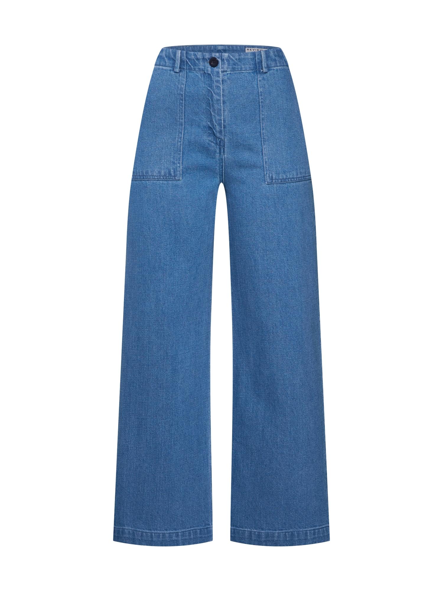 Kalhoty modrá Review