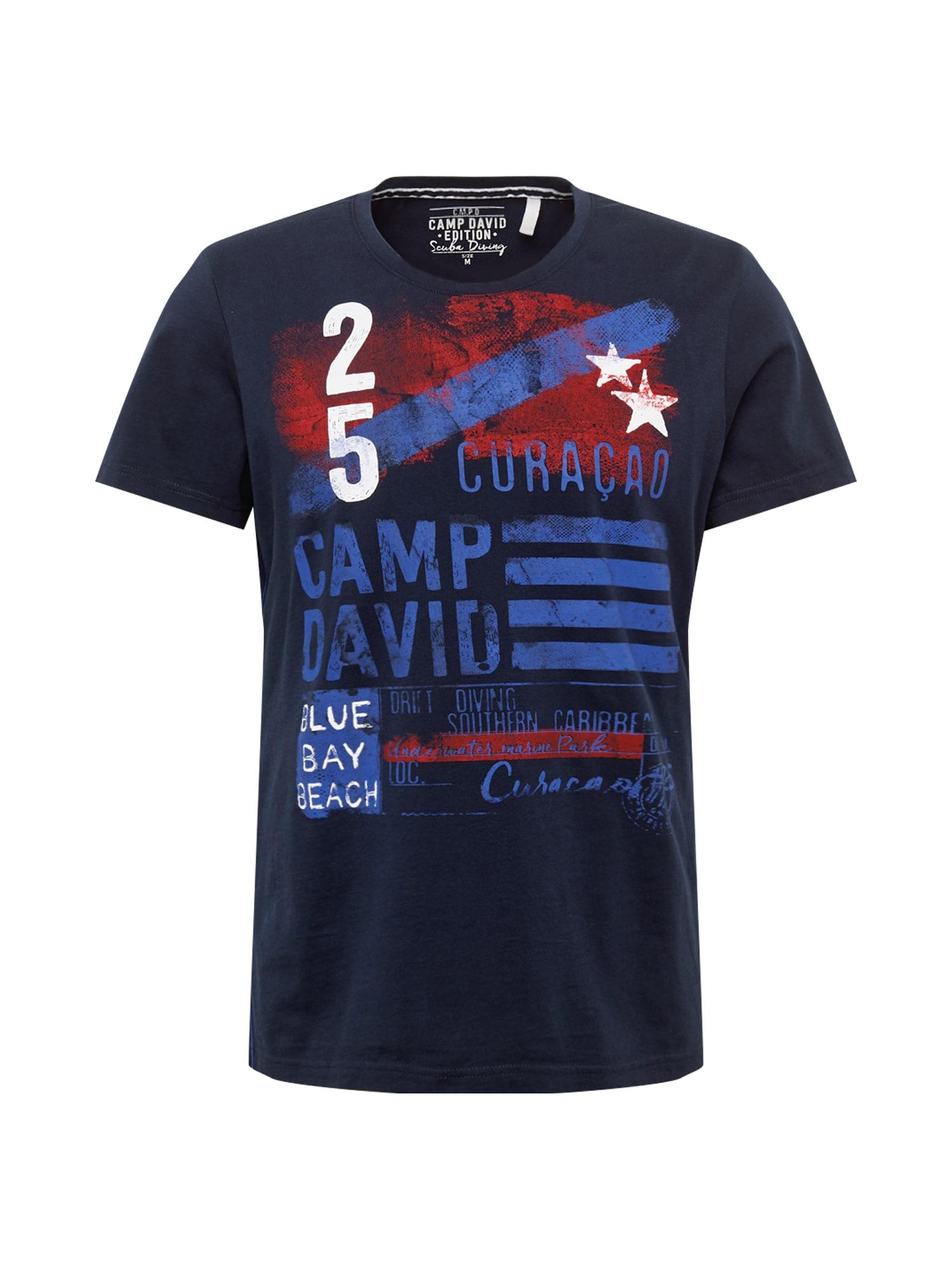 CAMP DAVID Tričko  námornícka modrá / biela / červené