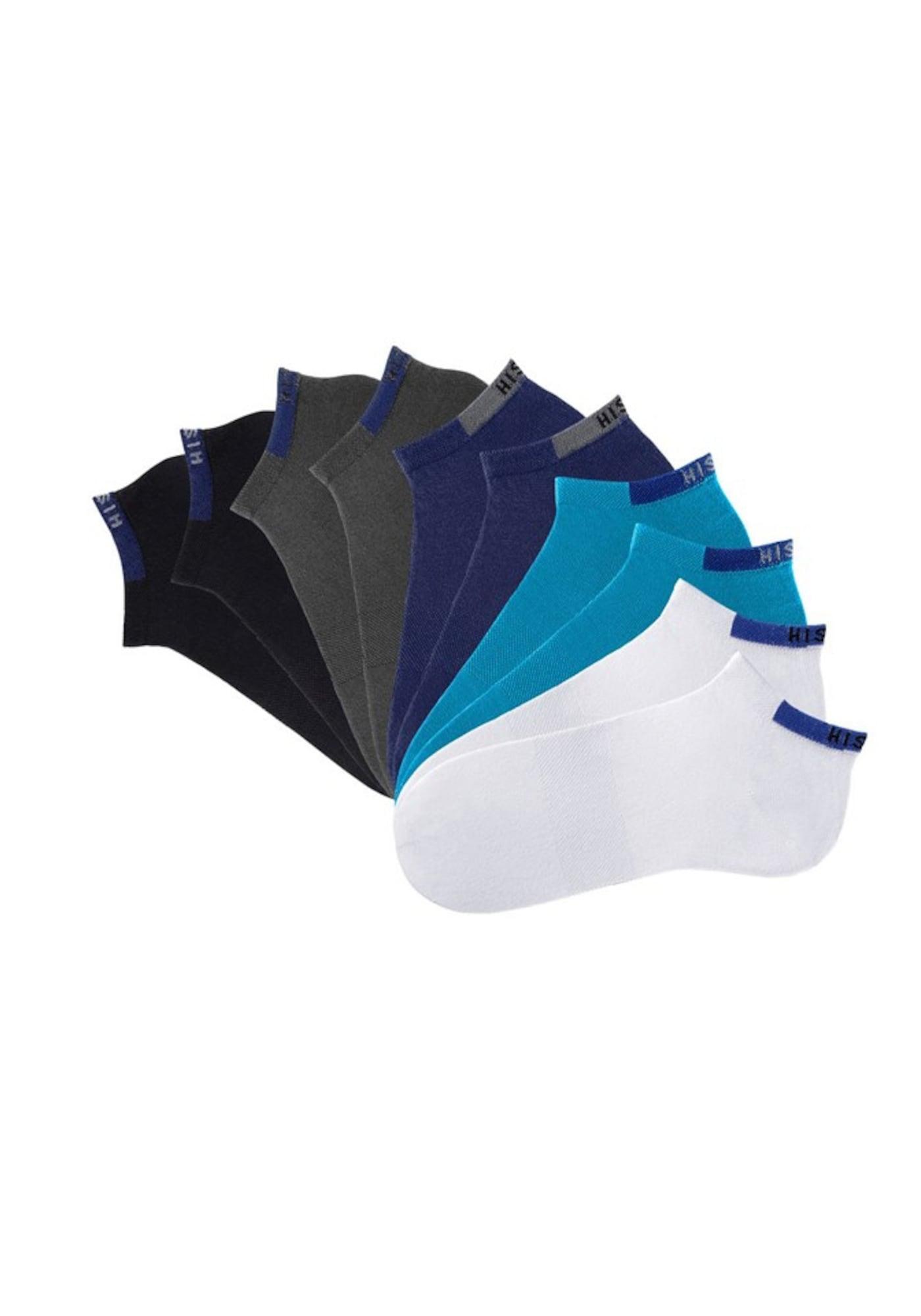 AboutYou   Damen H.I.S Sneakersocken blau, grau, schwarz