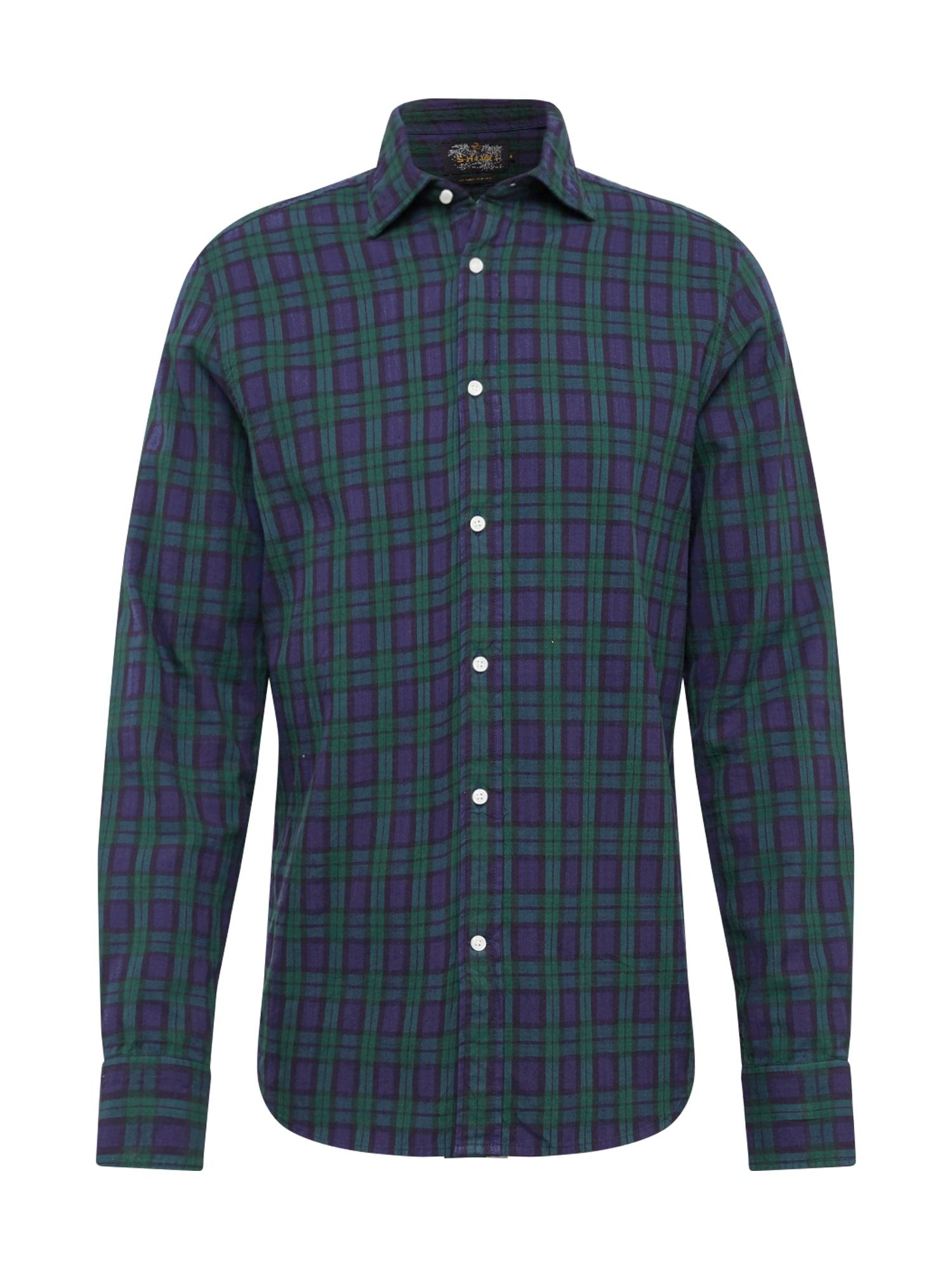 Shiwi Dalykiniai marškiniai 'stuard oxford' tamsiai žalia