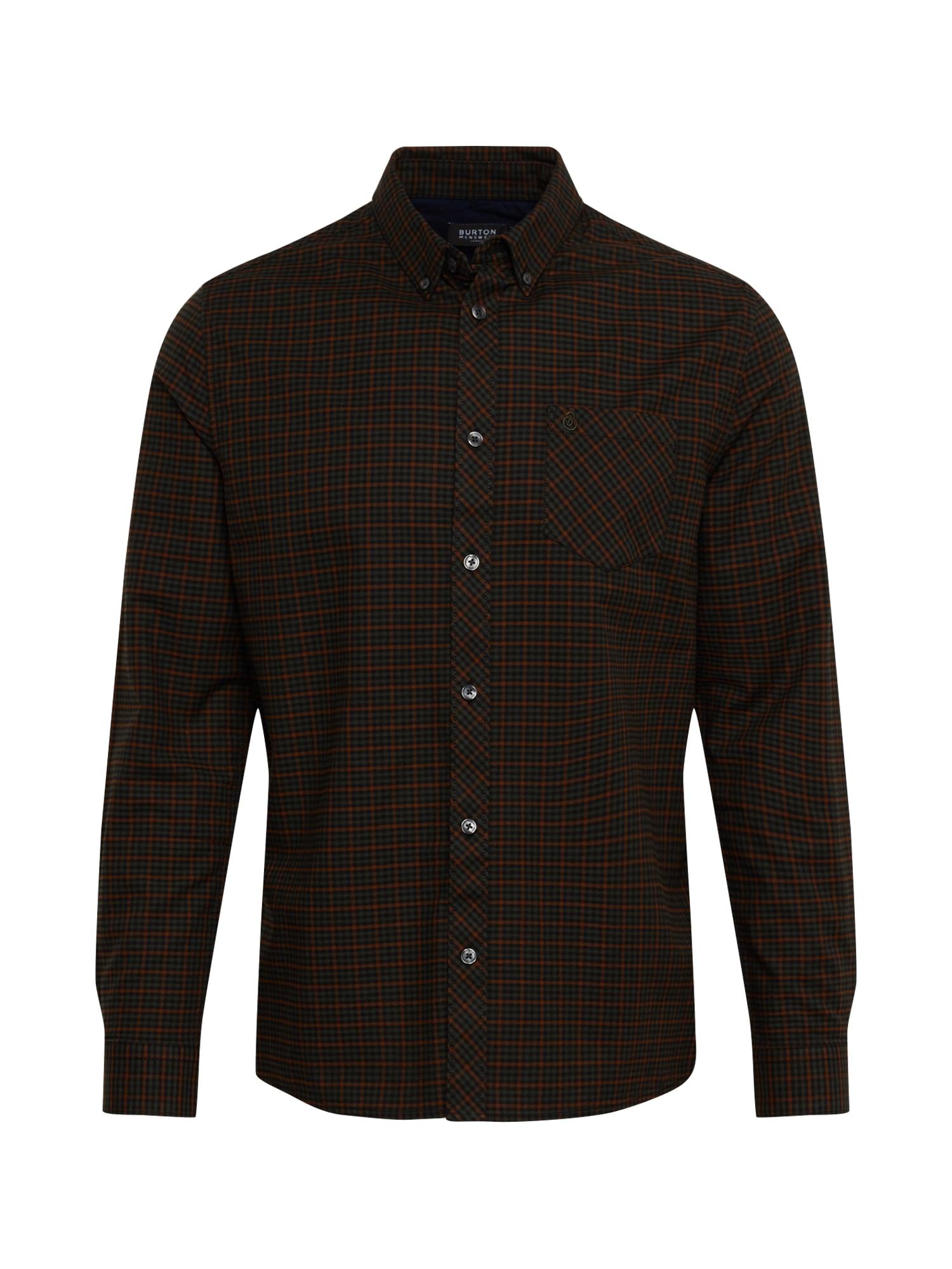 BURTON MENSWEAR LONDON Dalykiniai marškiniai 'LS KHK MINI CHECK' žalia