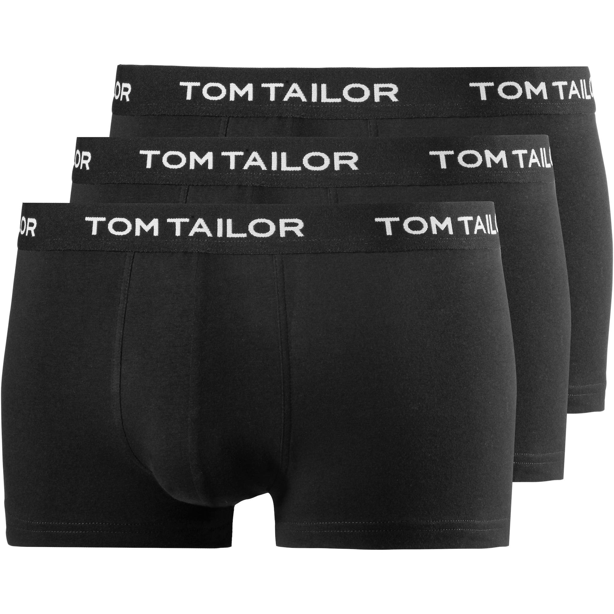 TOM TAILOR Boxer trumpikės balta / juoda