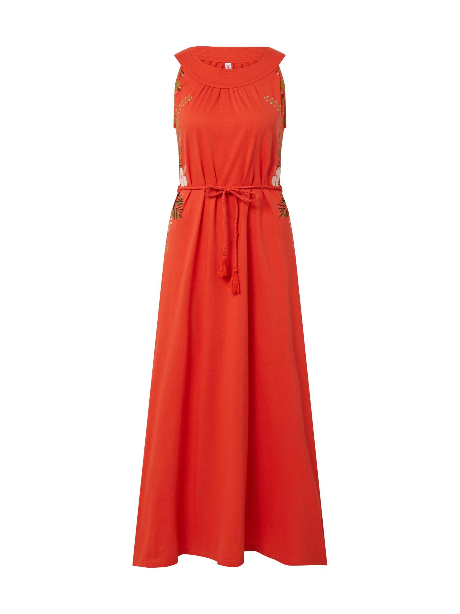 Blutsgeschwister Vasarinė suknelė oranžinė-raudona
