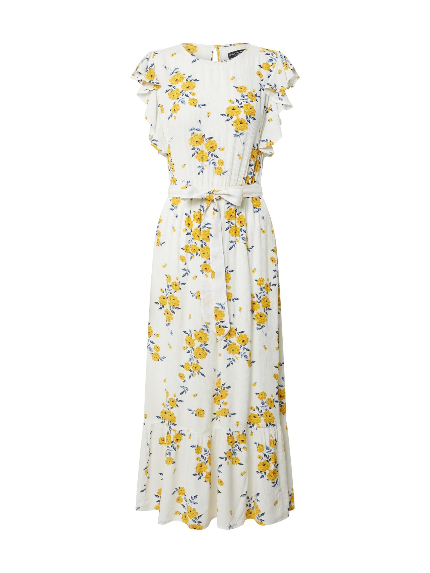 Dorothy Perkins Suknelė balta / geltona