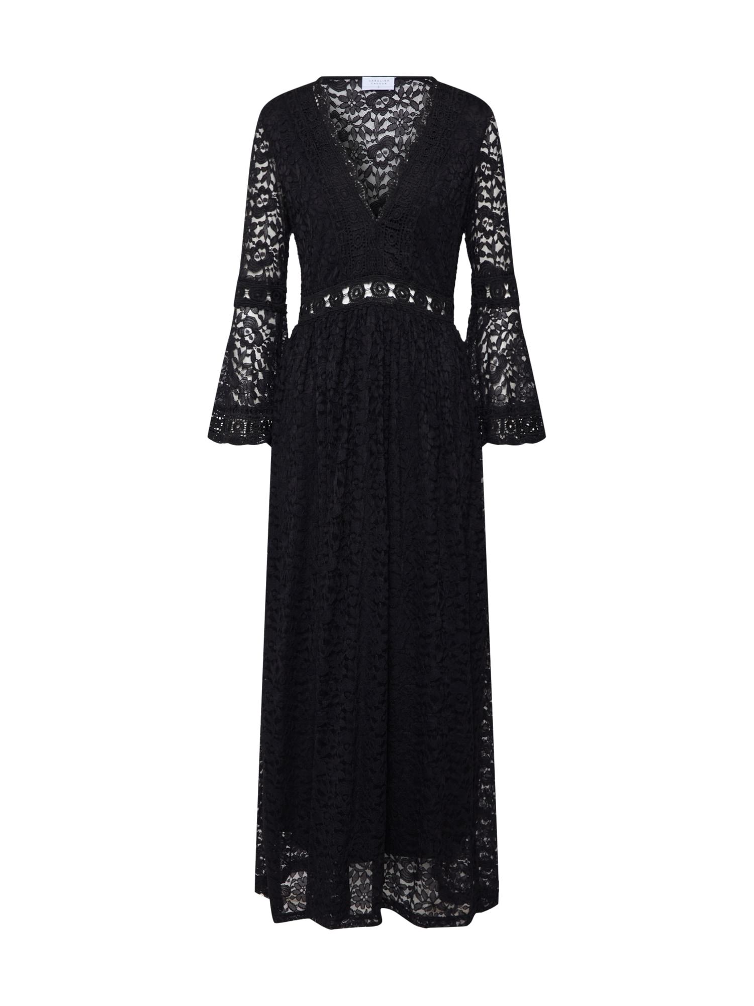 Carolina Cavour Vakarinė suknelė 'midi lace dress' juoda