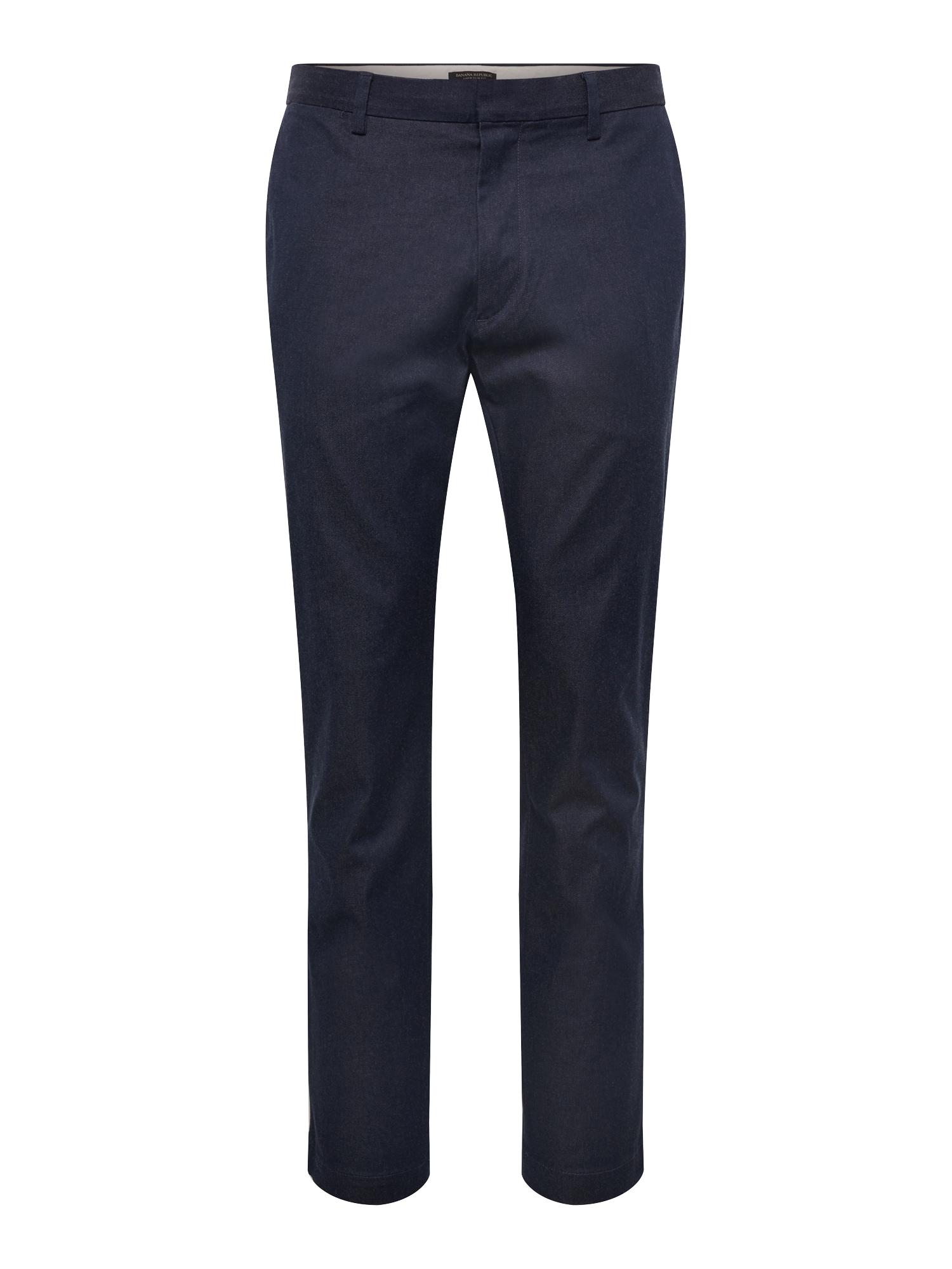Chino kalhoty AIDEN HEATHERED RMC námořnická modř Banana Republic