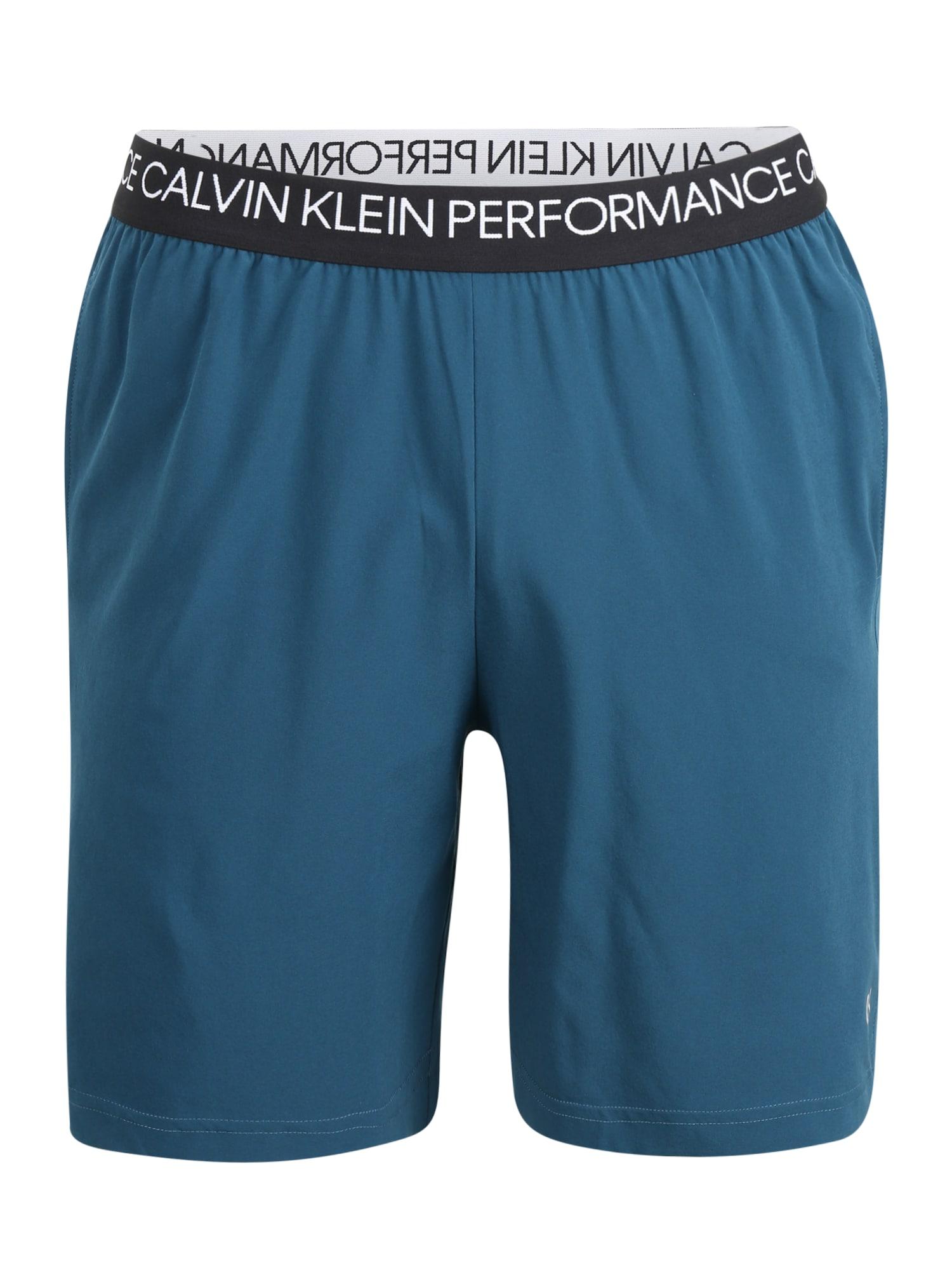 Calvin Klein Performance Sportinės kelnės benzino spalva