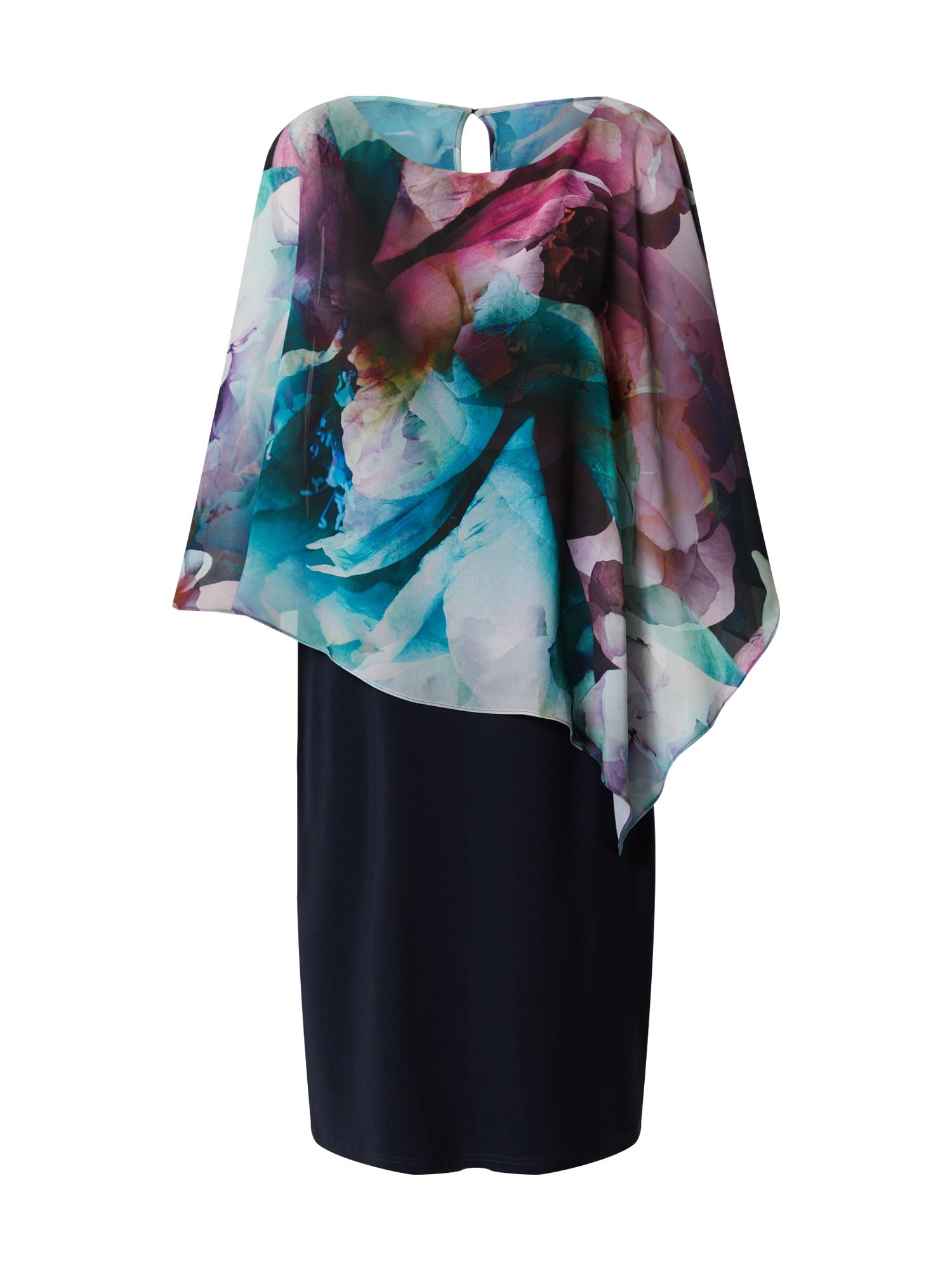 Vera Mont Šaty  tmavomodrá / zmiešané farby / ružová