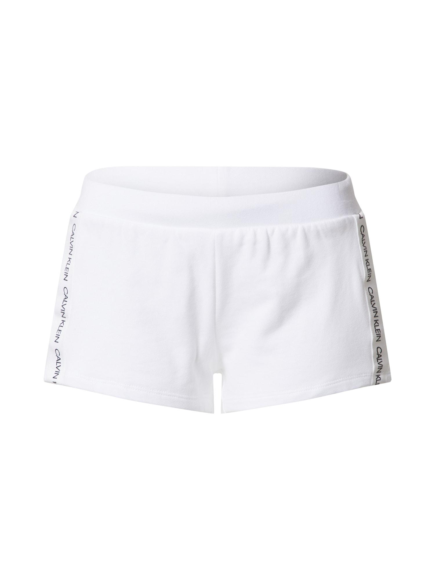 Calvin Klein Underwear Pižaminės kelnės 'W' balta