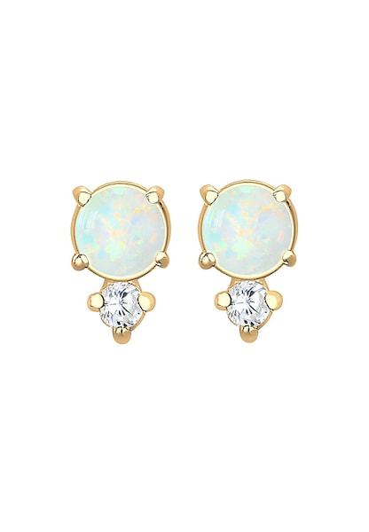 Ohrringe für Frauen - ELLI Ohrringe 'Kreis' hellblau gold weiß  - Onlineshop ABOUT YOU