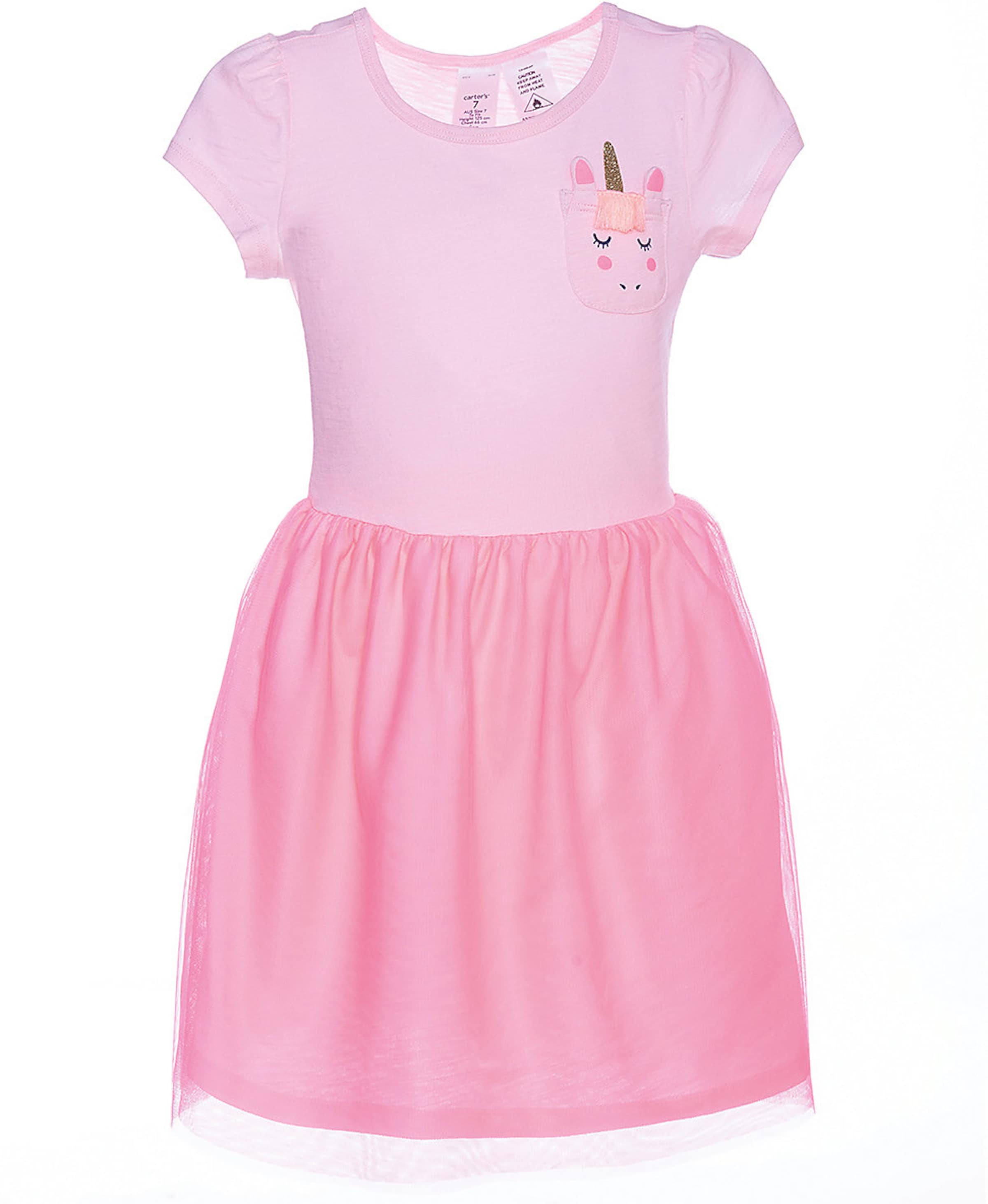 Kinder,  Mädchen,  Kinder Carter's Jerseykleid grau, pink, rot, weiß | 00192135605226