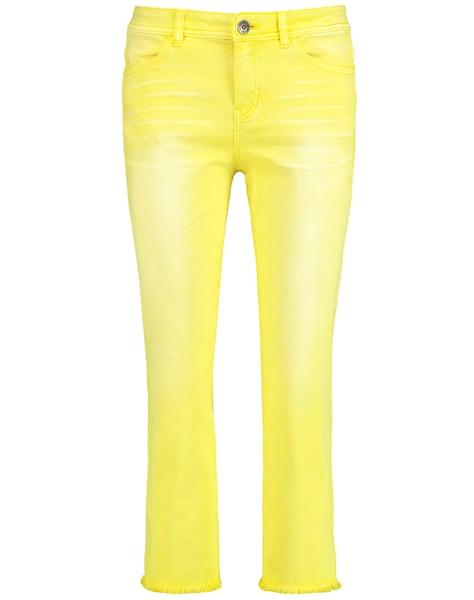 Hosen - Hose Jeans verkürzt 7 8 Flared Jeans Cropped TS › Taifun › gelb  - Onlineshop ABOUT YOU