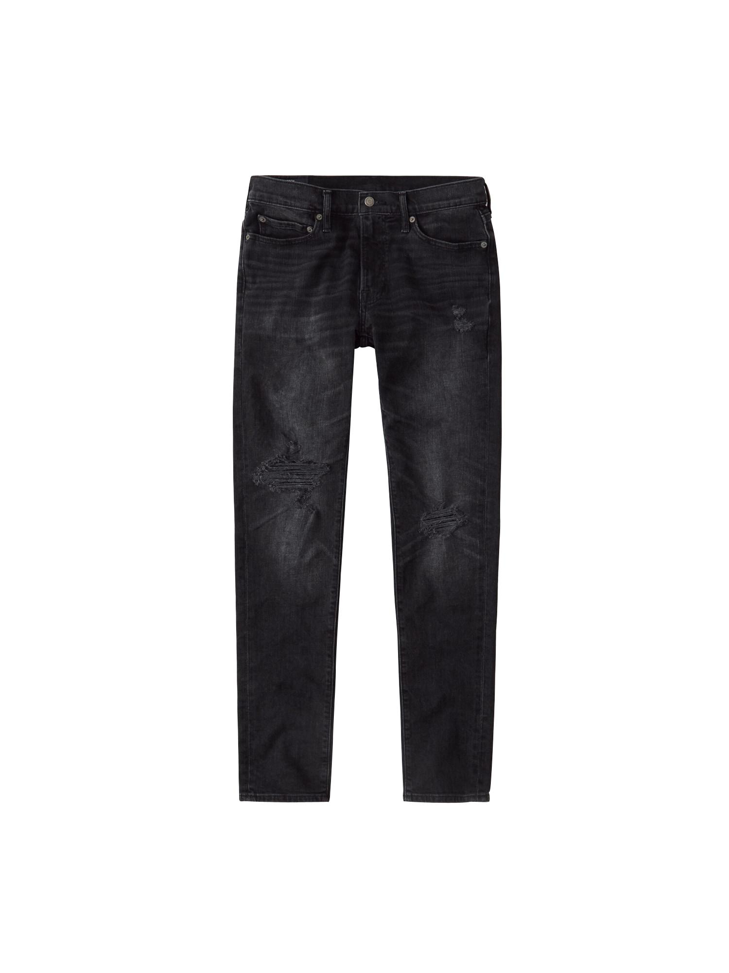Abercrombie & Fitch Džinsai 'BTS19' juodo džinso spalva
