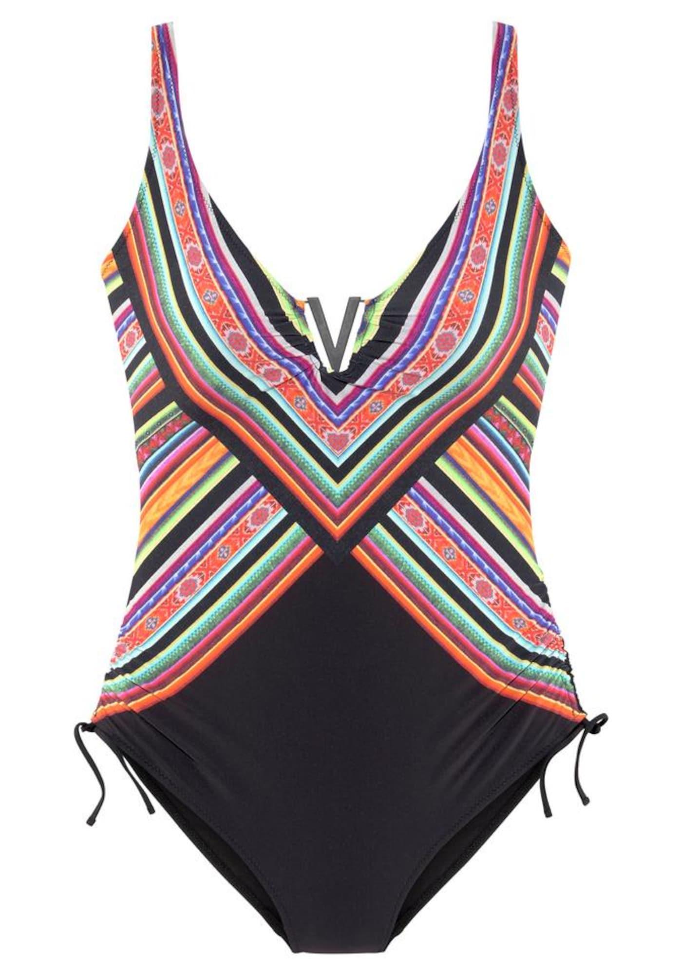 LASCANA Formujúce plavky  čierna / zmiešané farby